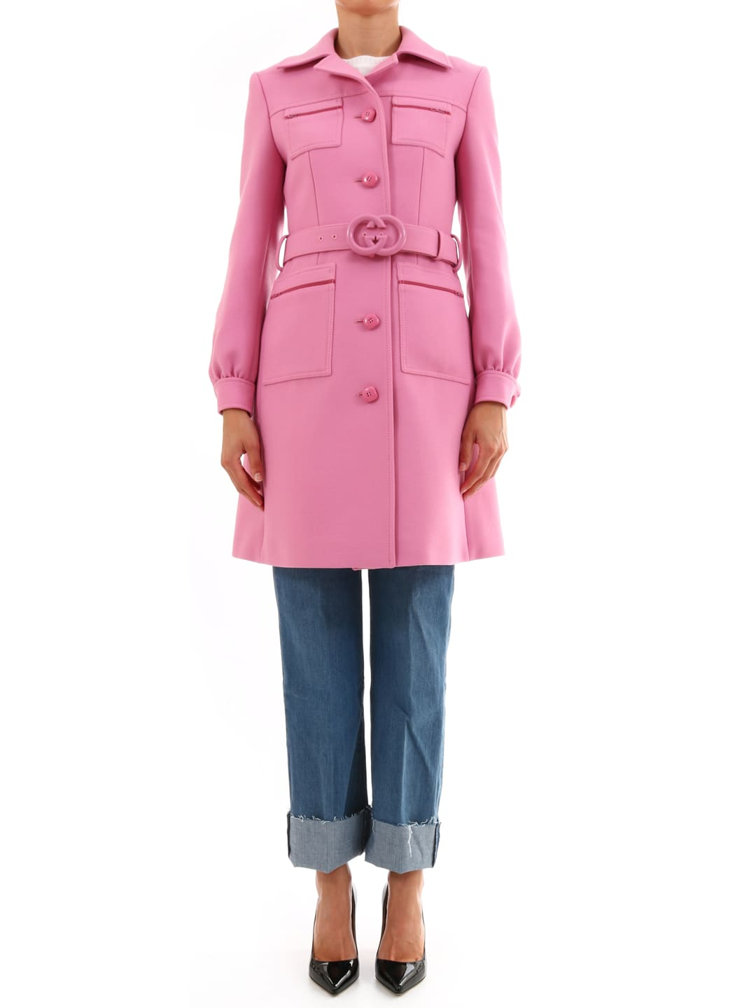 Gucci Pink Wool Coat