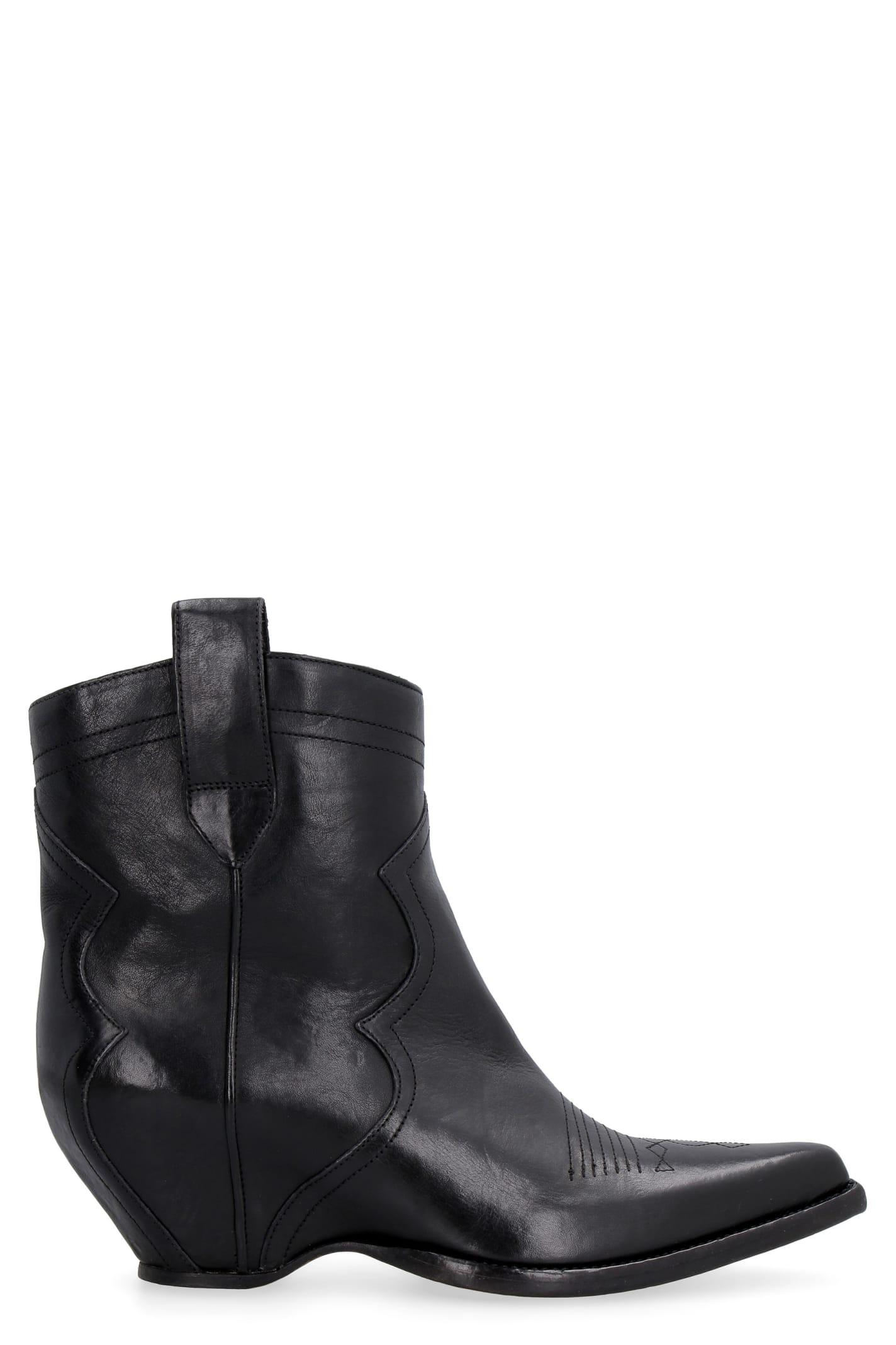 Buy Maison Margiela Pointy-toe Cowboy Boots online, shop Maison Margiela shoes with free shipping