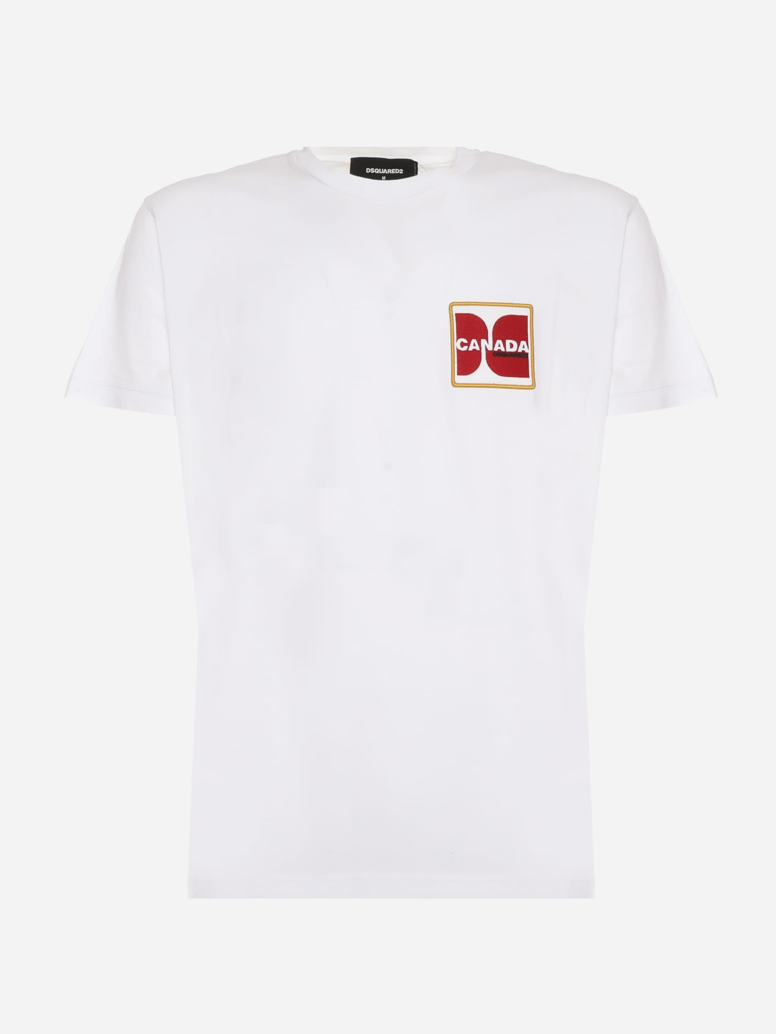 Dsquared2 COTTON T-SHIRT WITH CANADA PATCH ON THE CHEST