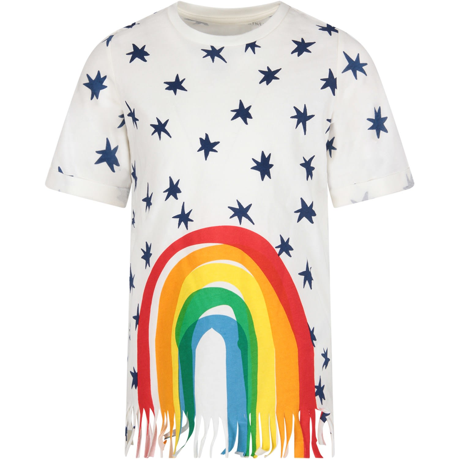 Buy Stella McCartney Kids White Dress With Stars For Girl online, shop Stella McCartney Kids with free shipping