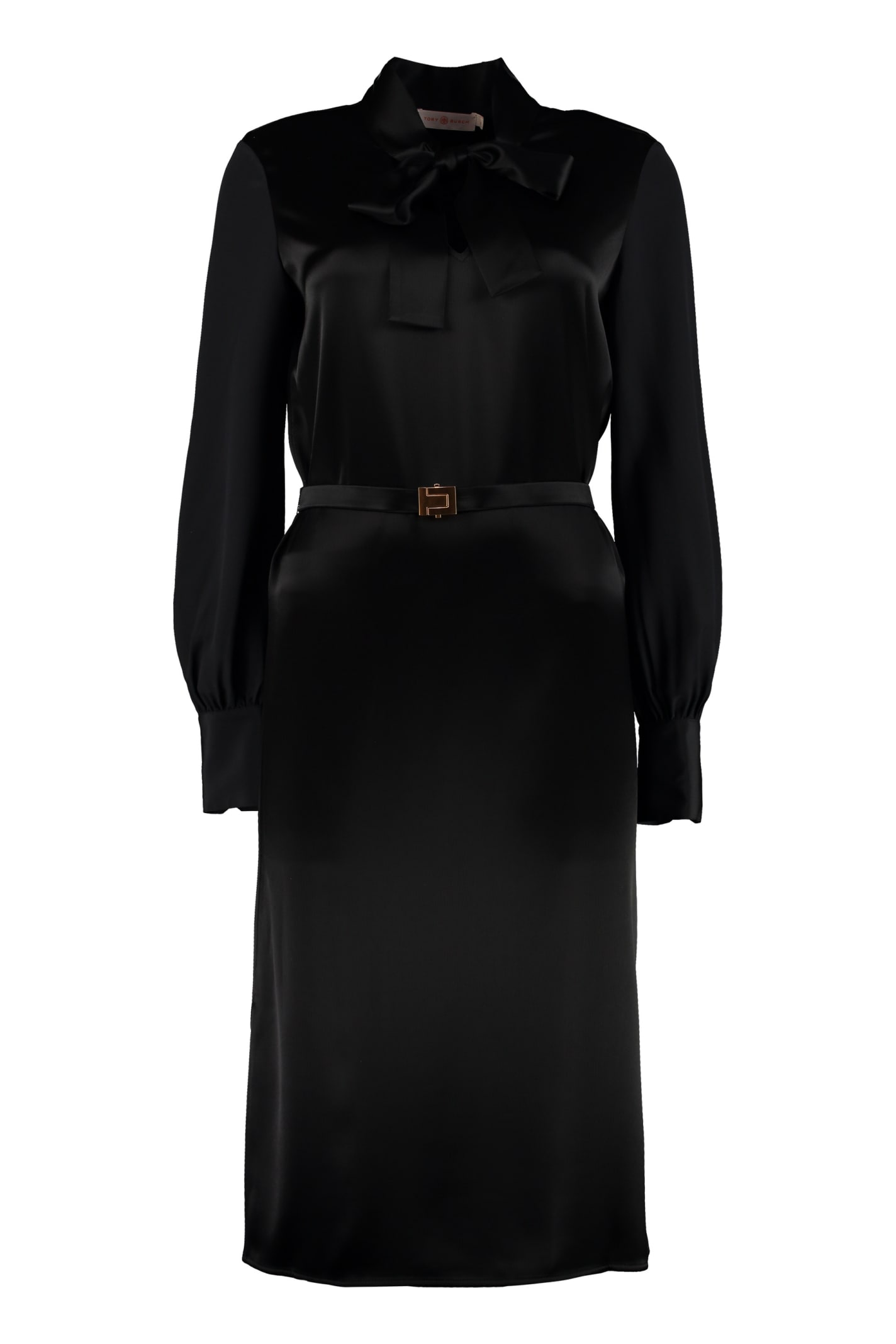 Tory Burch Belted Satin Dress