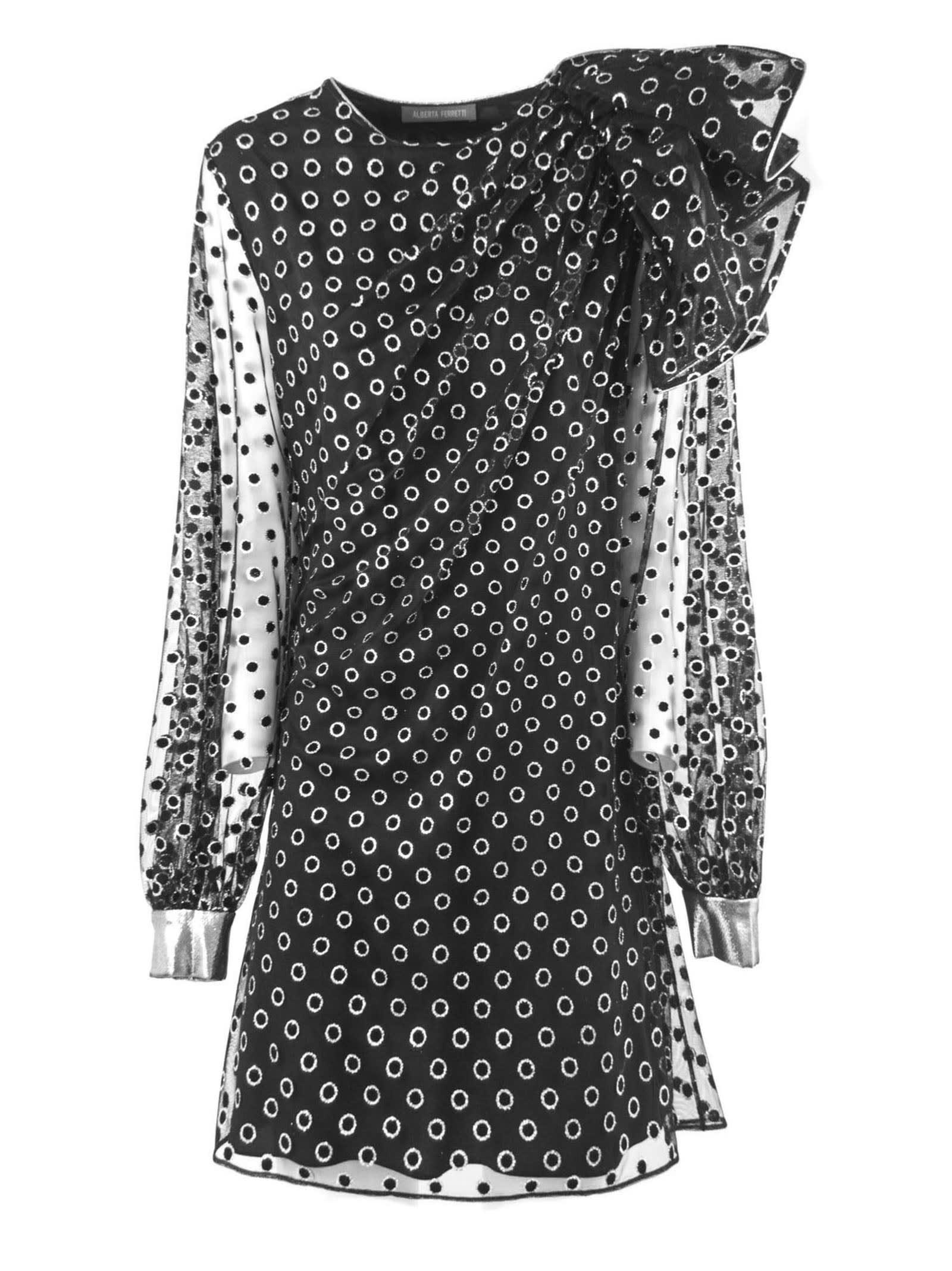 Alberta Ferretti Dress In Black Fabric