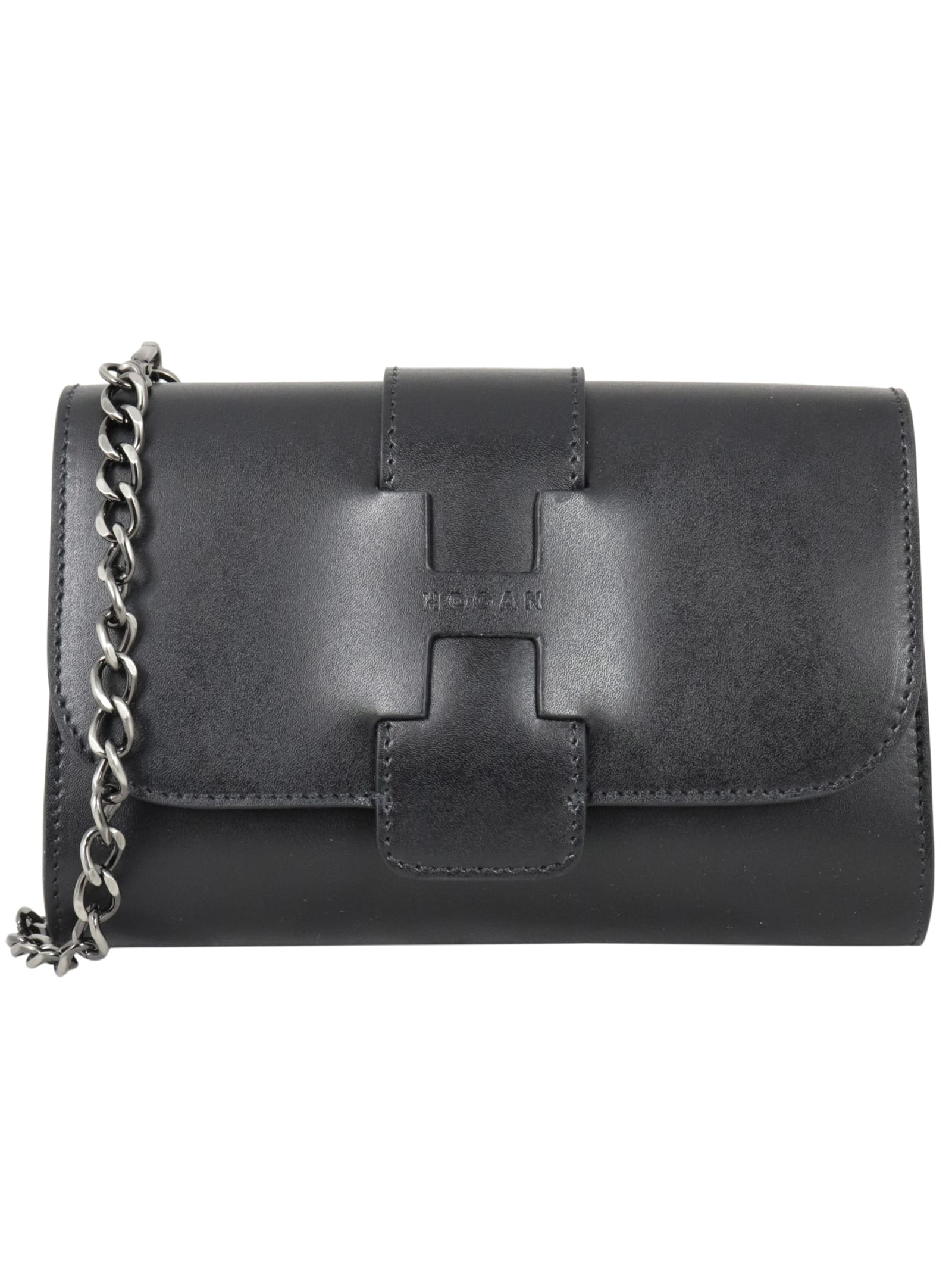 Hogan Basic Maxi Tracollina Shoulder Bag In Black