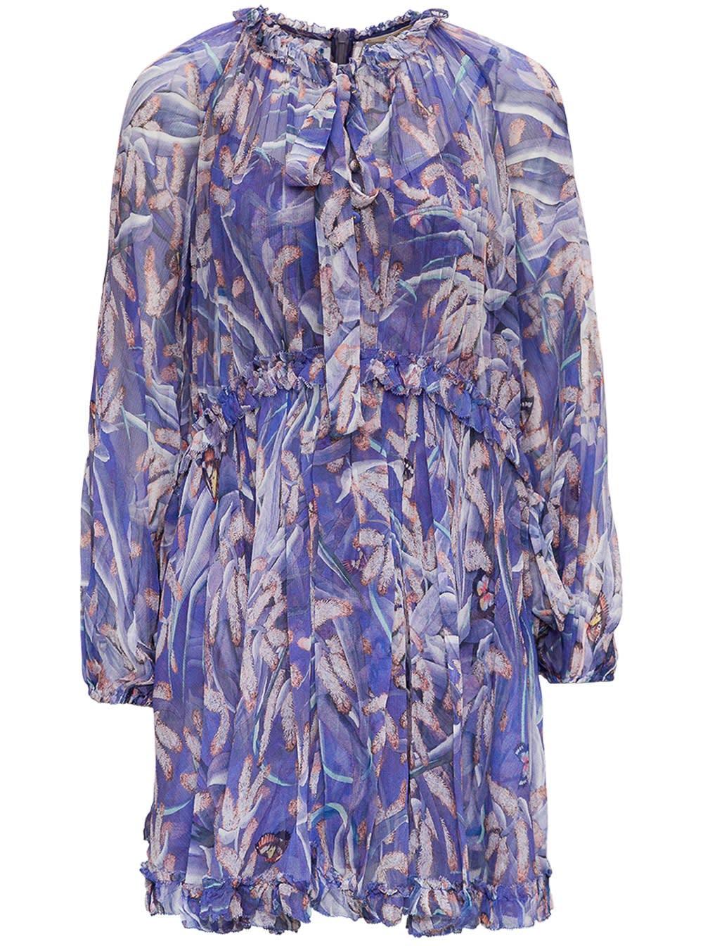 Buy Zimmermann Botanica Drawn Purple Silk Dress online, shop Zimmermann with free shipping