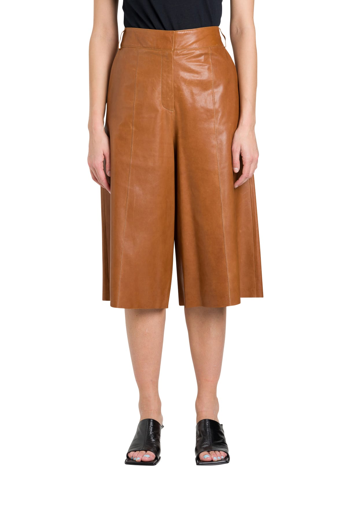 Arma Shorts LONG LEATHER SHORTS