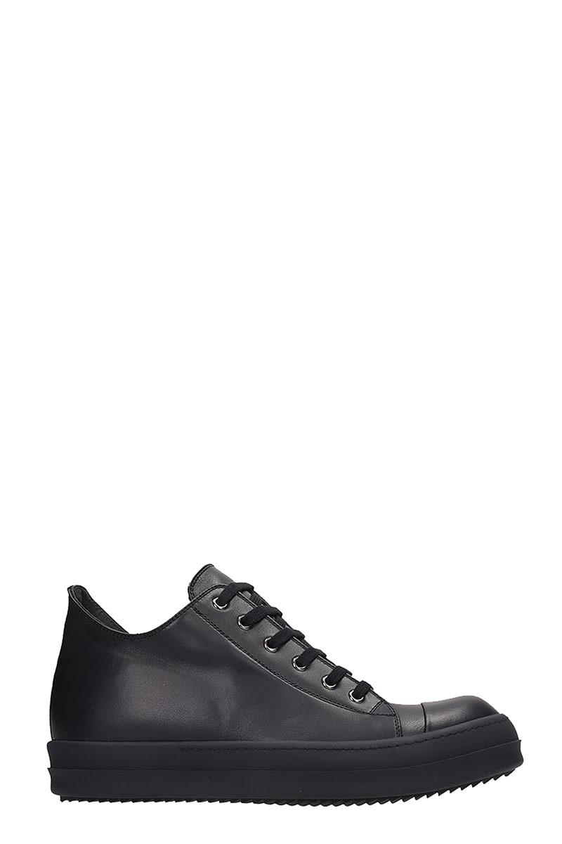 Rick Owens Sneaker Low Sneakers In Black Leather