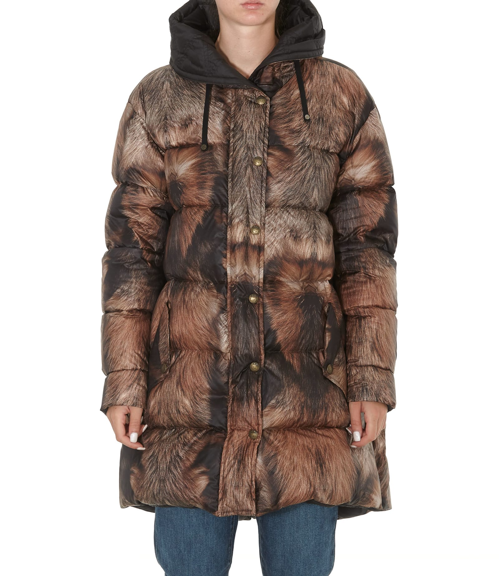 Mr & Mrs Italy Fur Print Down Jacket