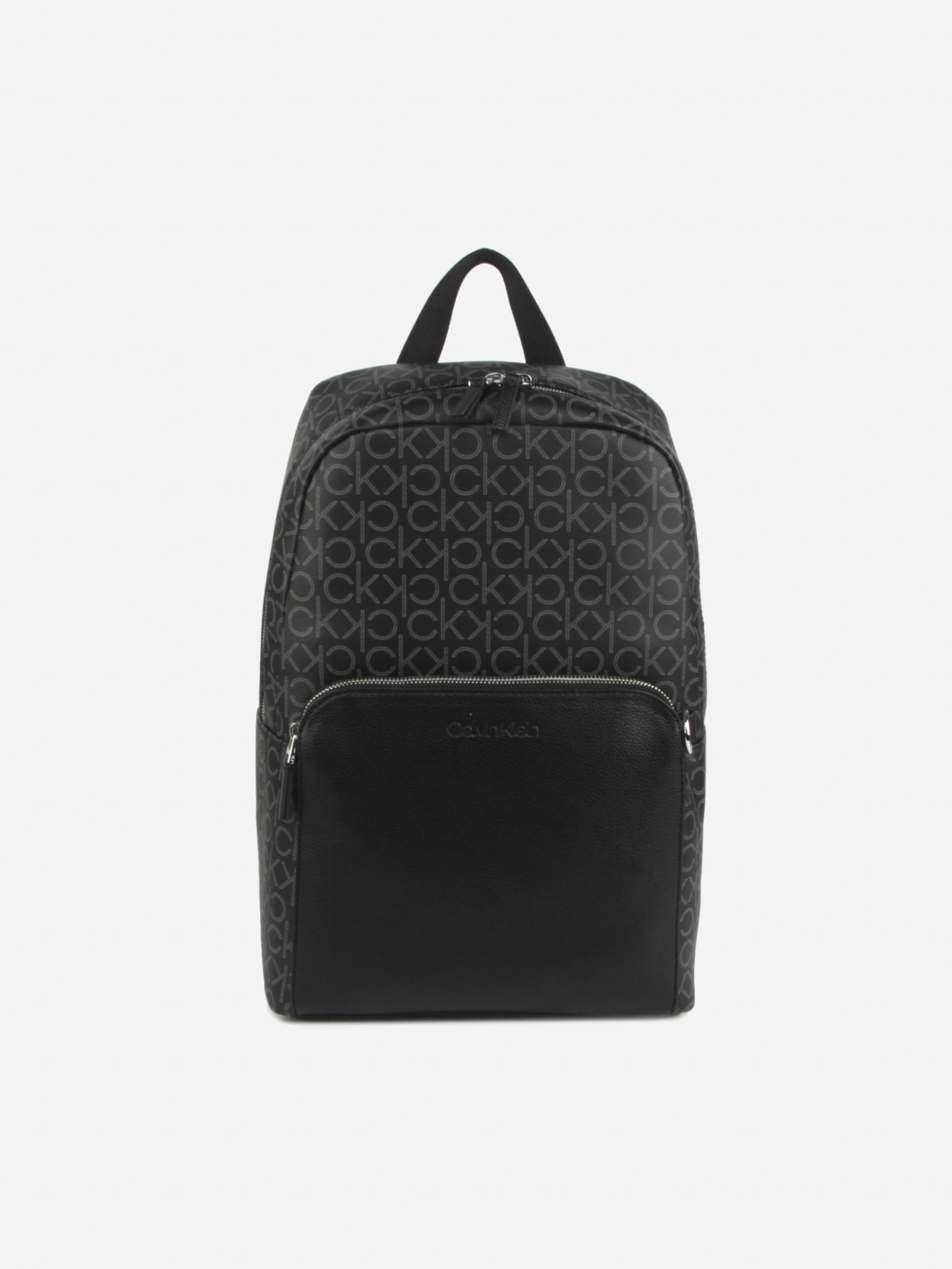 Calvin Klein Backpacks ROUND BACKPACK WITH EMBOSSED LOGO