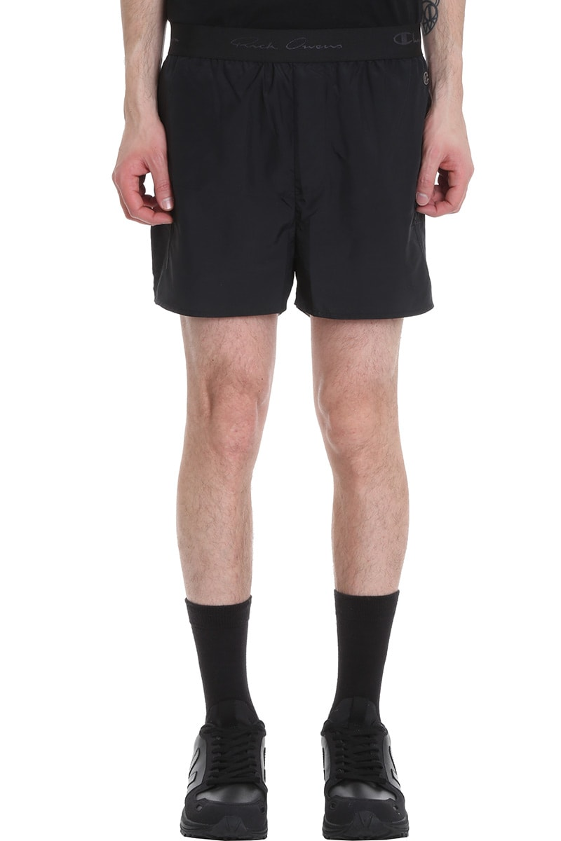 Rick Owens Dolphin Boxers Shorts In Black Polyamide