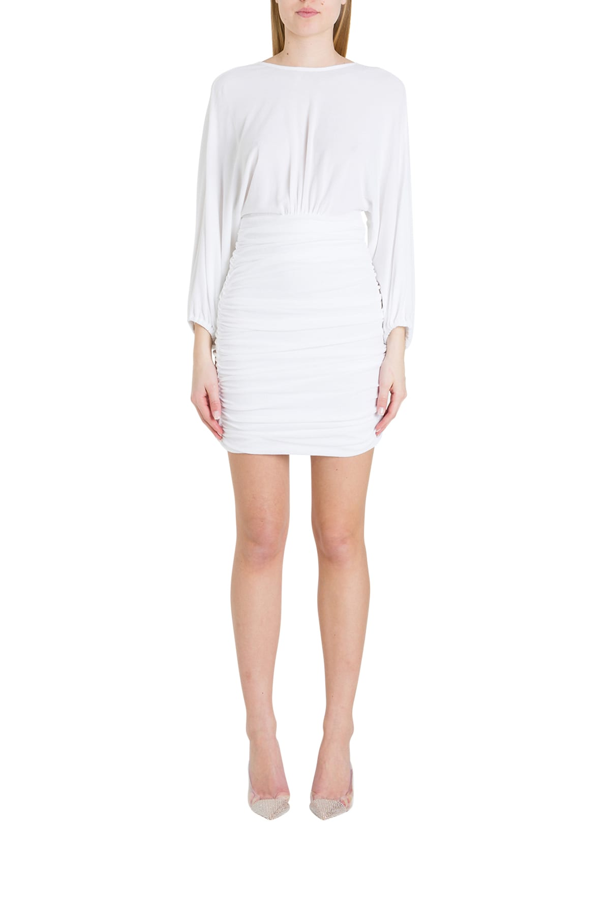 Buy Alexandre Vauthier Draped Terry Cloth Dress online, shop Alexandre Vauthier with free shipping