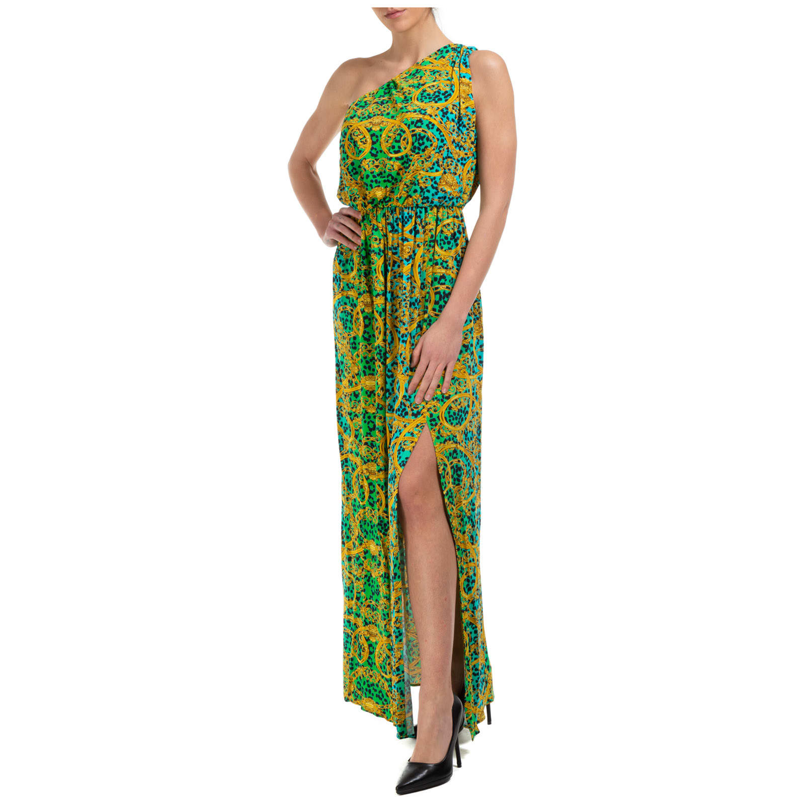 Buy Versace Jeans Couture Leo Chain Maxi Dresses online, shop Versace Jeans Couture with free shipping
