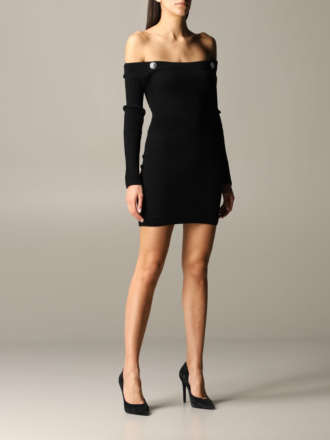 Buy Balmain Dress Balmain Dress With Jewel Buttons online, shop Balmain with free shipping