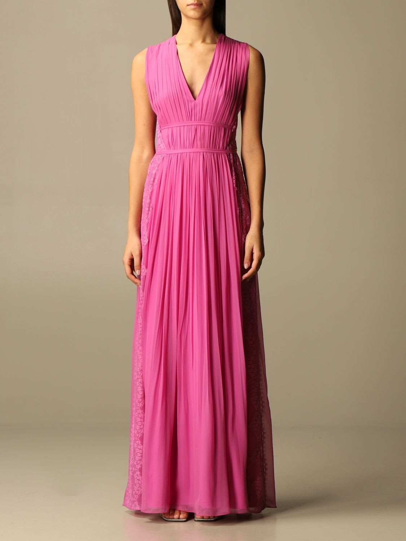 Alberta Ferretti Dress Alberta Ferretti Long Dress In Silk And Lace
