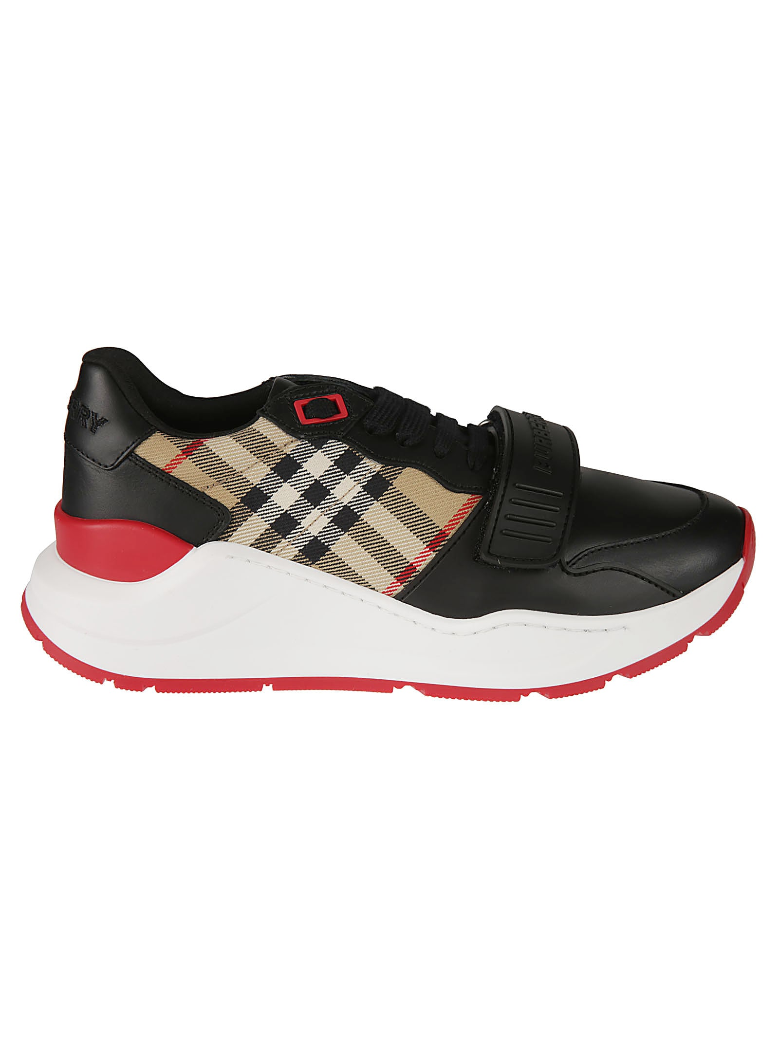 Burberry Low Top Check Detail Sneakers