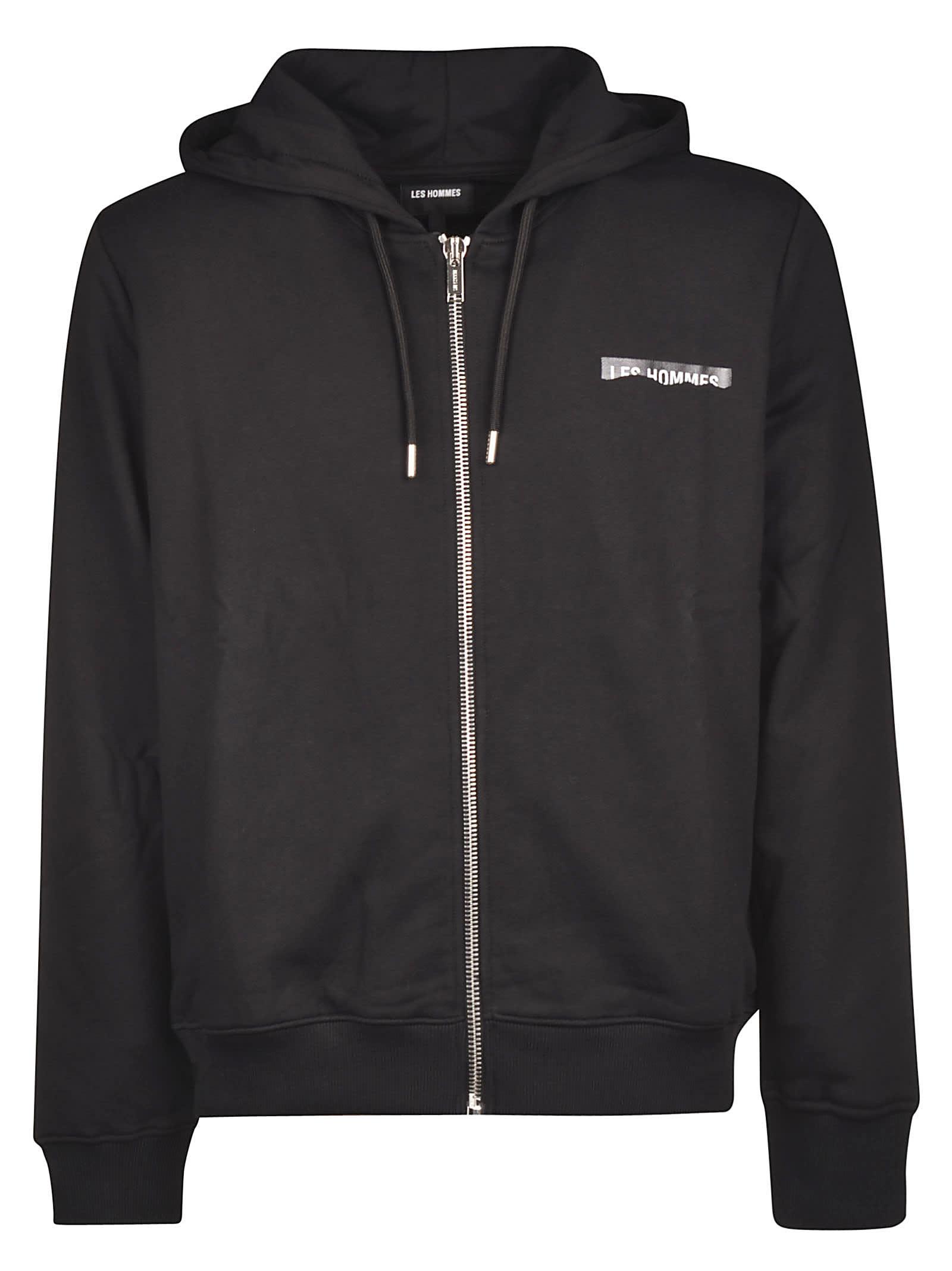 Les Hommes Hoodie Zipped Jacket