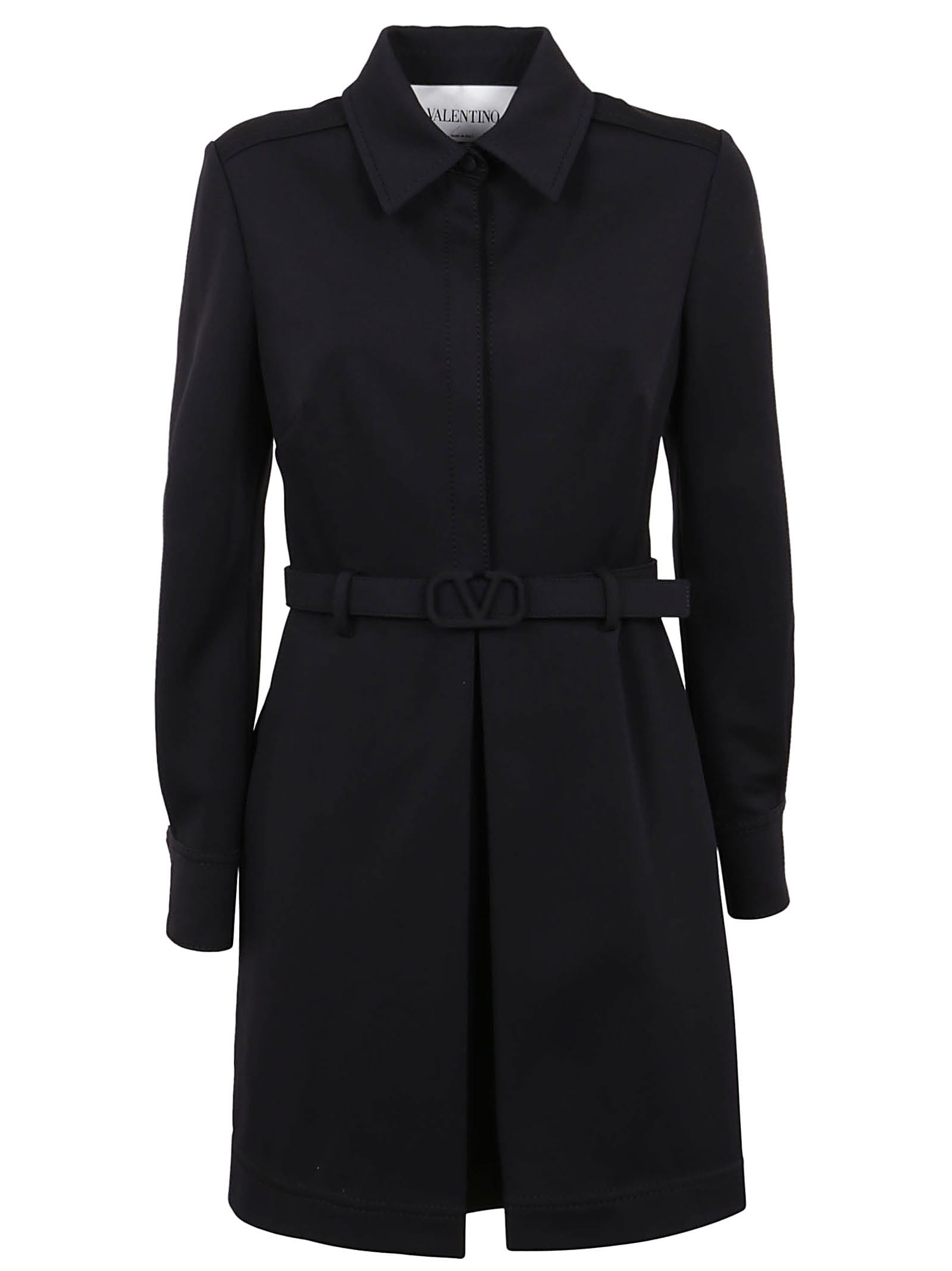 Buy Valentino Short Dress In Compact Interlock Jersey online, shop Valentino with free shipping