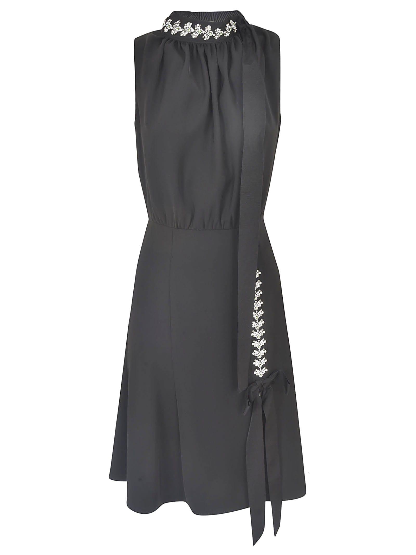 Buy Prada Crystal Embellished Sleeveless Dress online, shop Prada with free shipping
