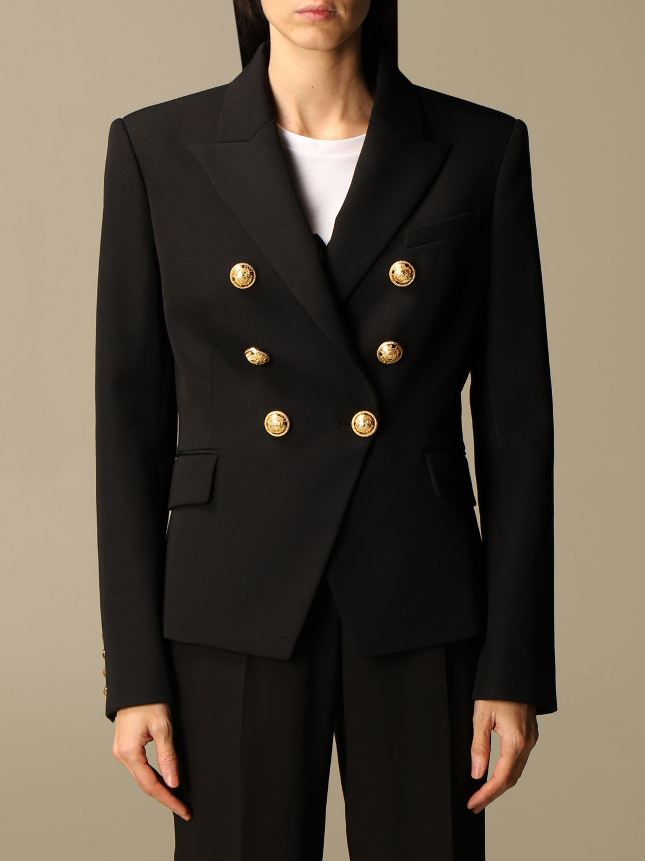 Balmain Blazer Balmain Double-breasted Wool Jacket