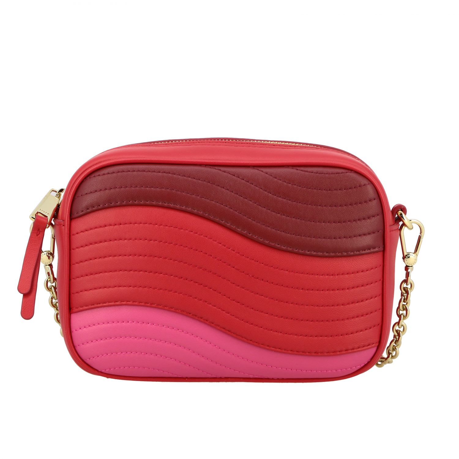 Furla Crossbody Bags Furla Shoulder Bag In Wave-like Quilted Leather