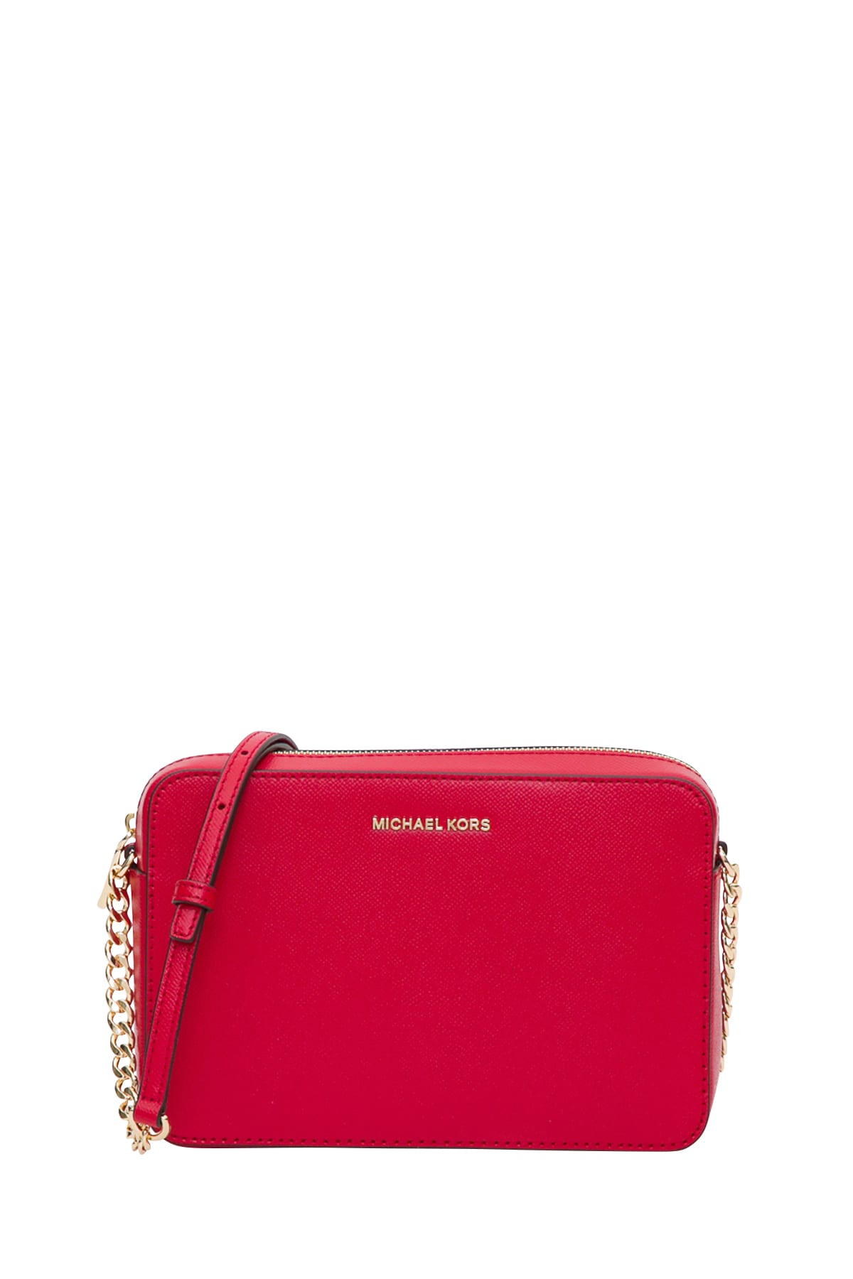 Leather crossbody bag Michael Michael Kors Red in Leather