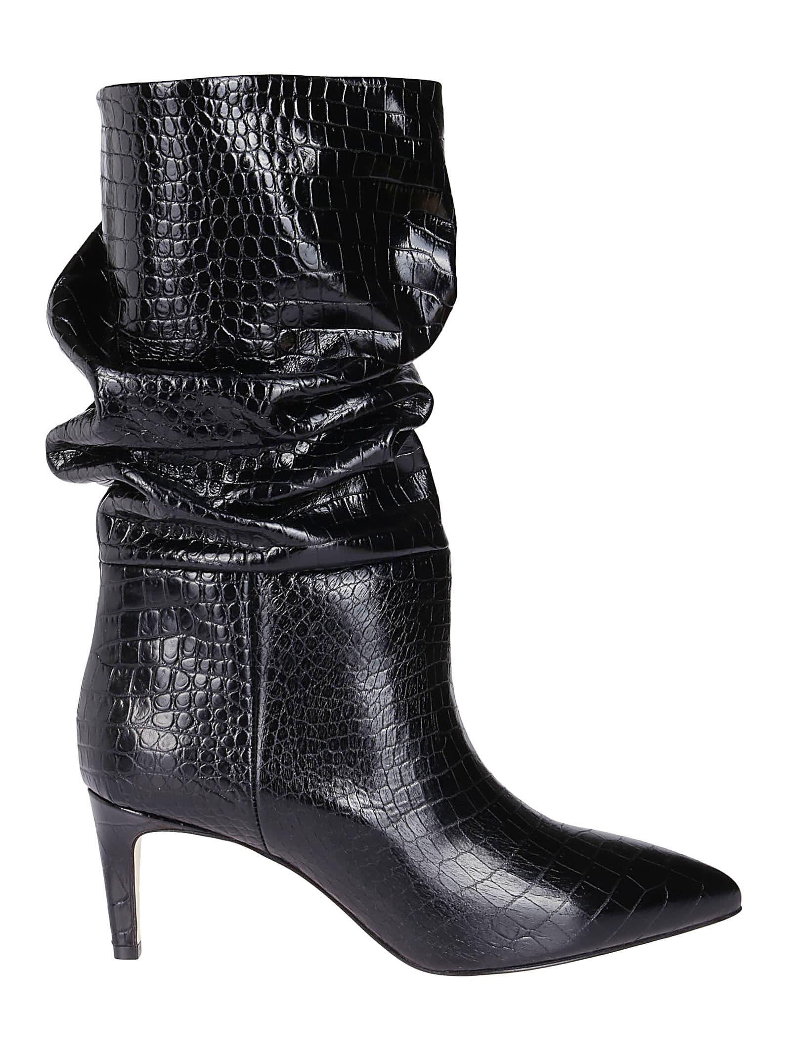 Paris Texas Black Leather Boots