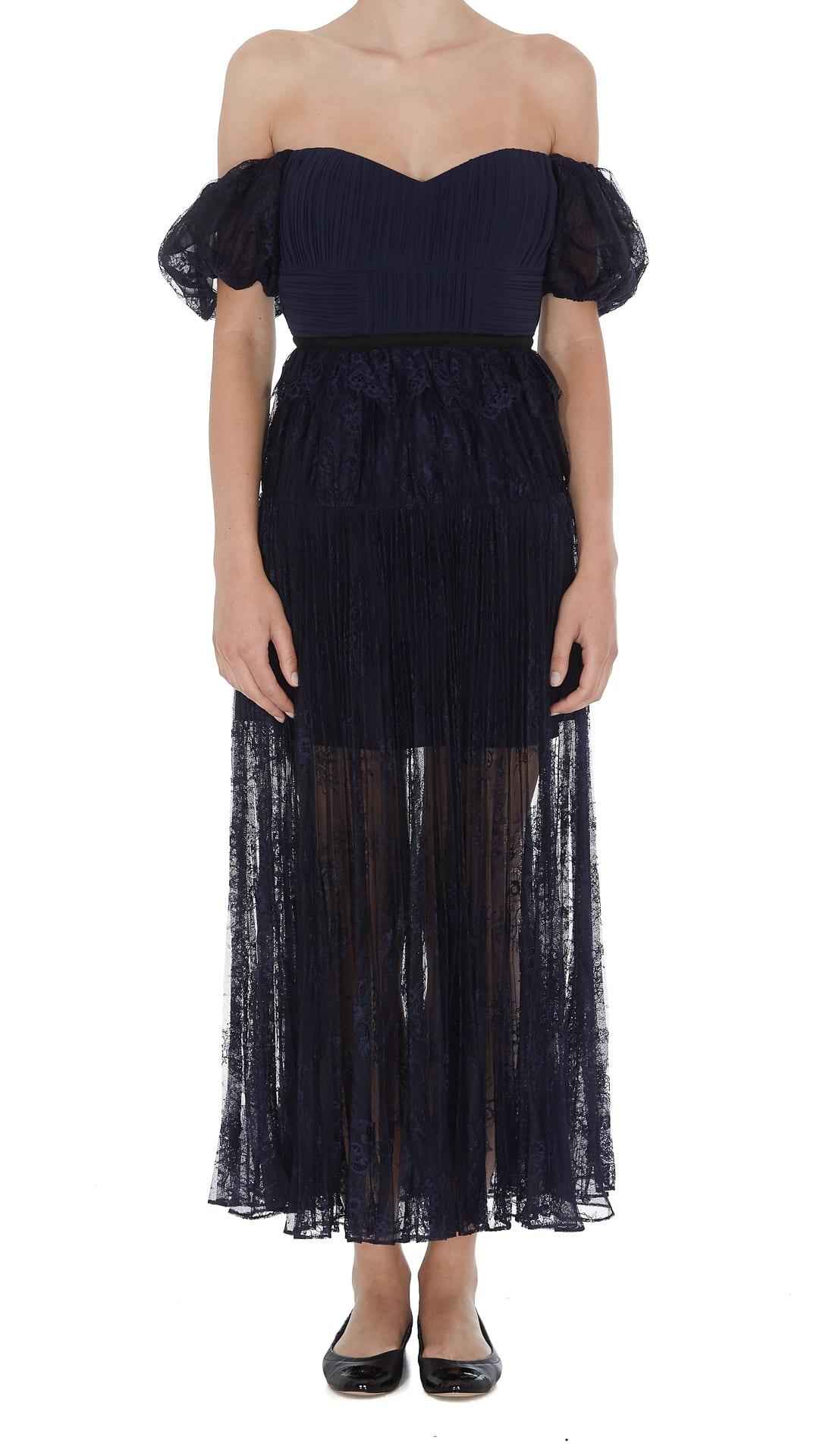 Self-portrait Midi Lace Dress