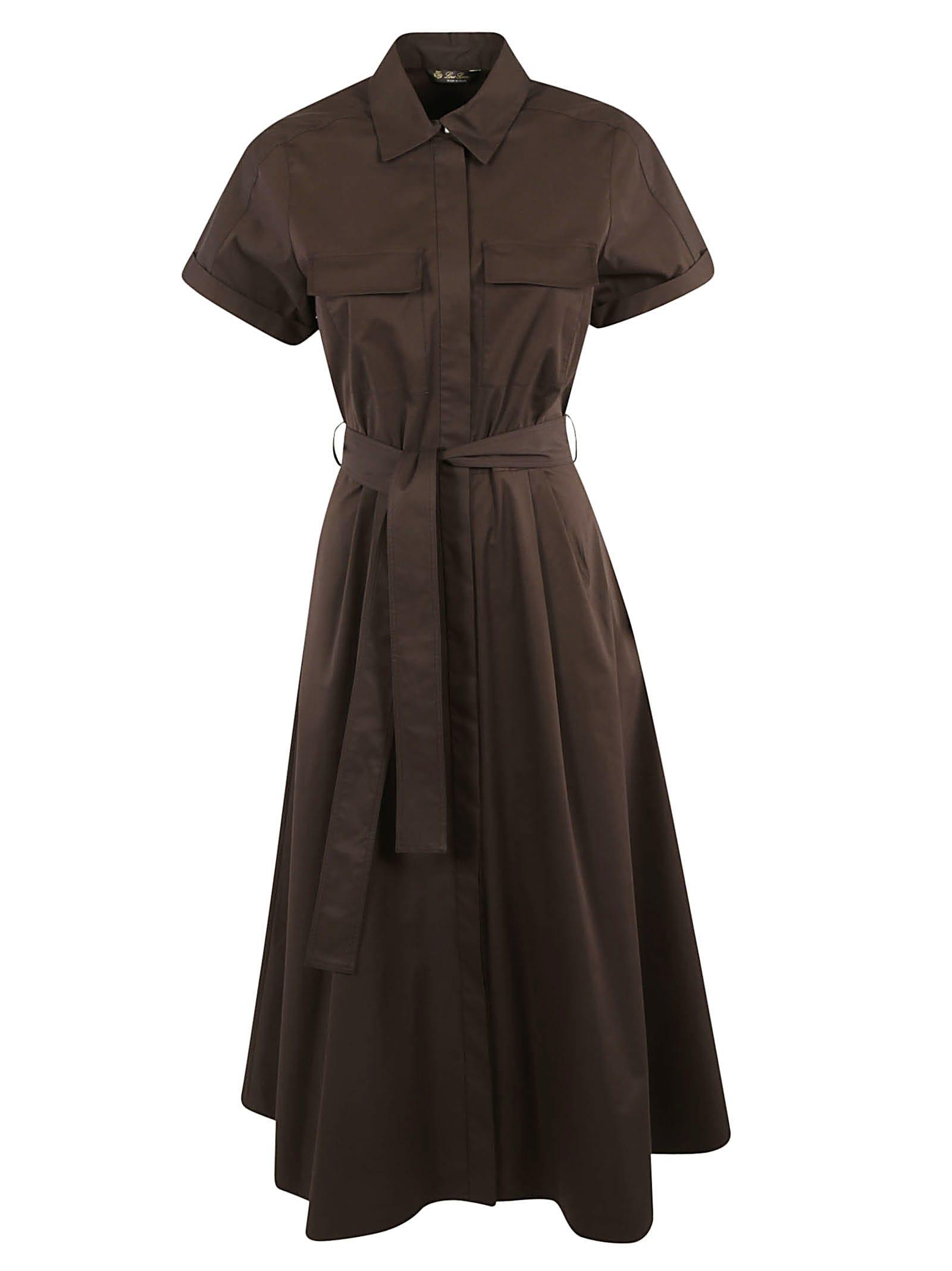Buy Loro Piana Belted Waist Short-sleeve Dress online, shop Loro Piana with free shipping