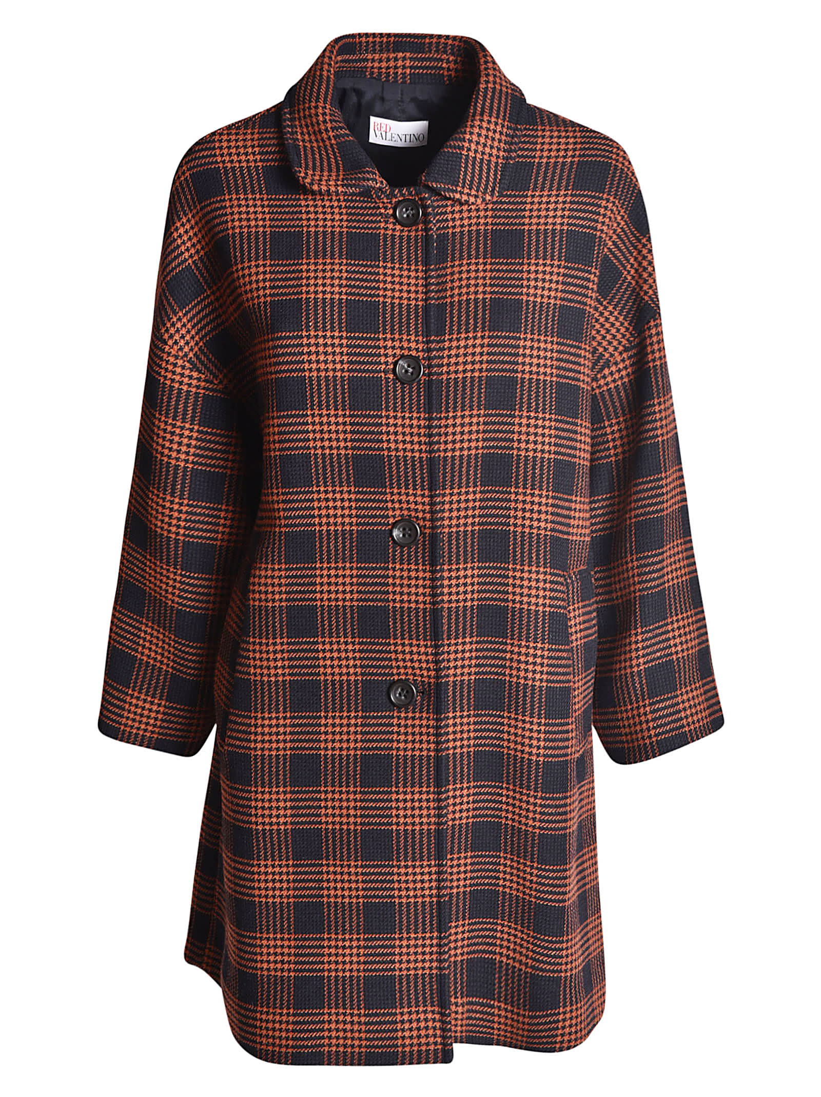 RED Valentino Checked Pattern Coat