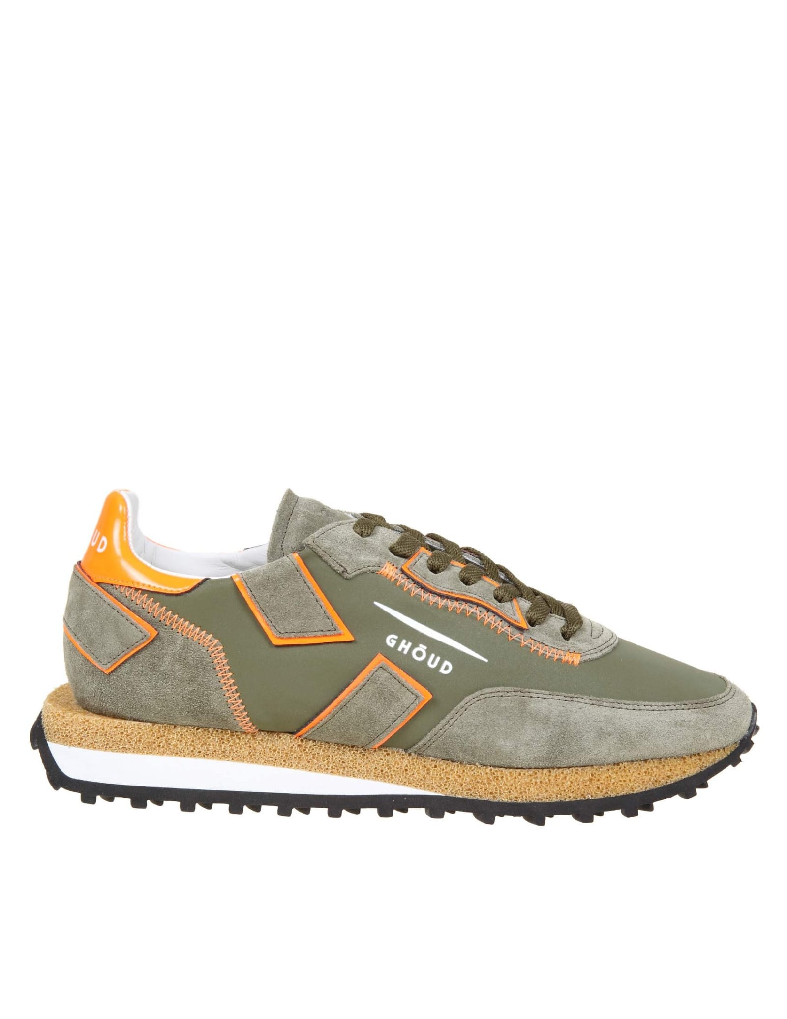 Ghoud GHOUD SNEAKERS RUSH IN SUEDE AND NYLON COLOR GREEN