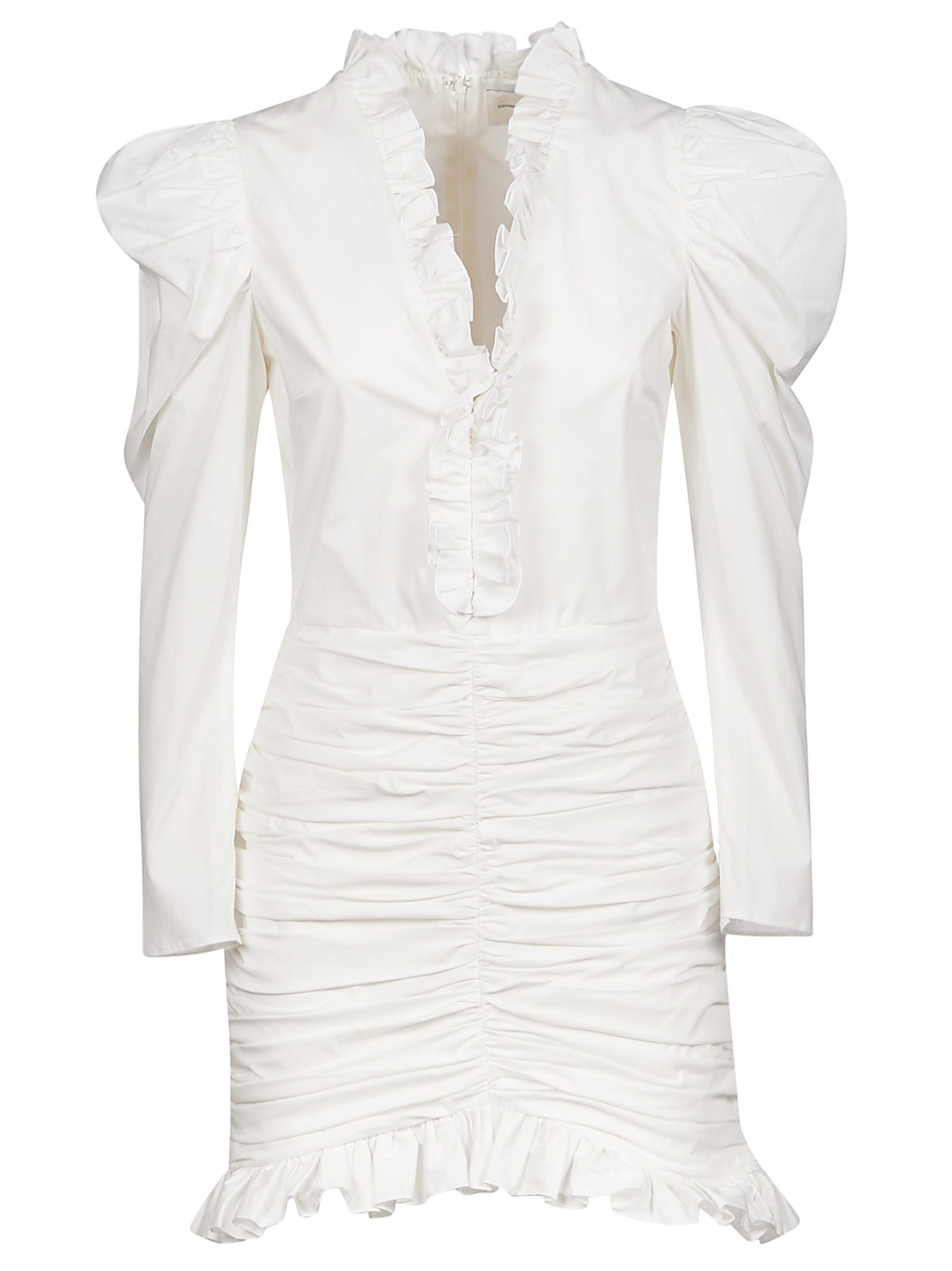 Buy Ruffle Detail V-neck Dress online, shop Giuseppe di Morabito with free shipping