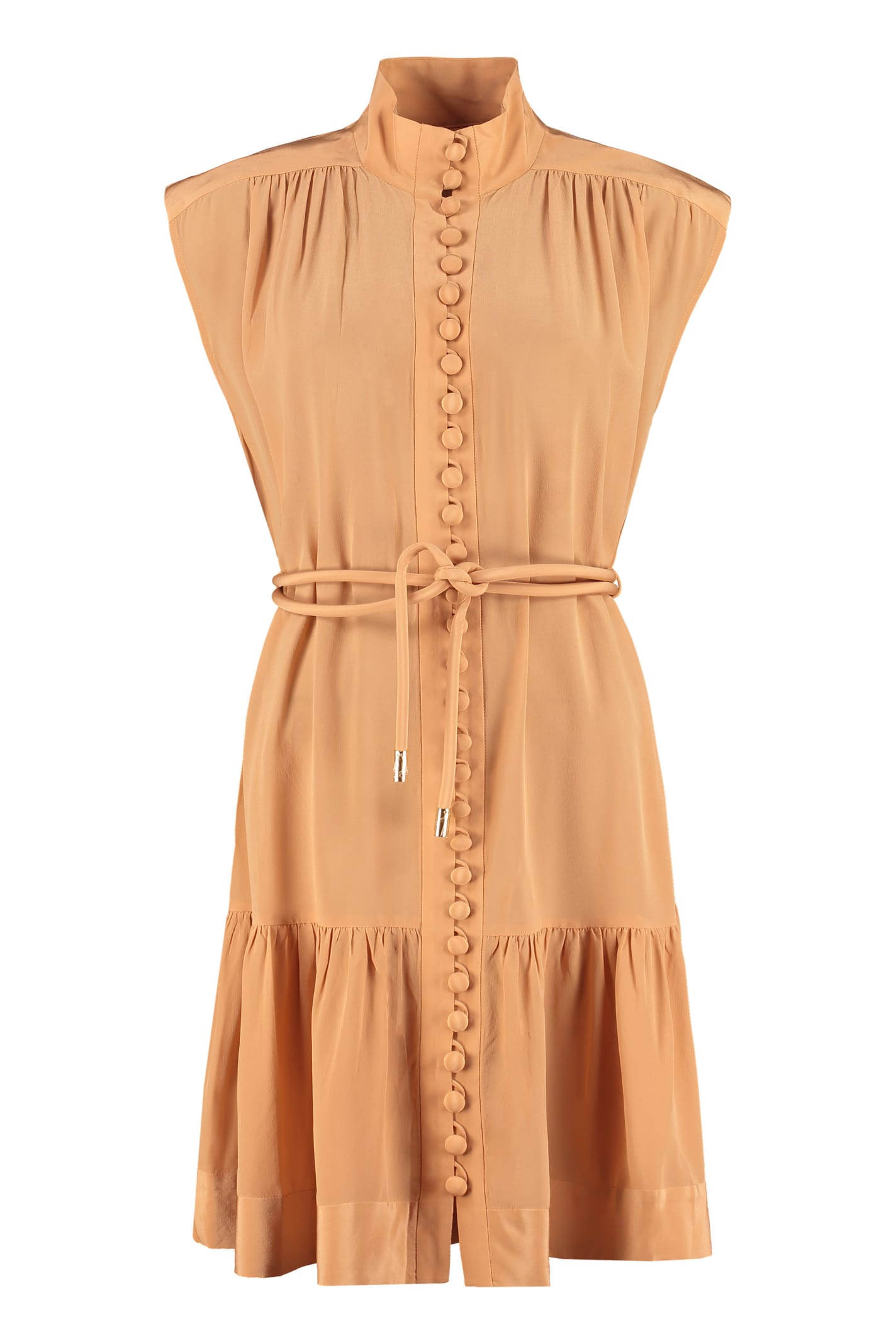 Buy Zimmermann Belted Silk Dress online, shop Zimmermann with free shipping