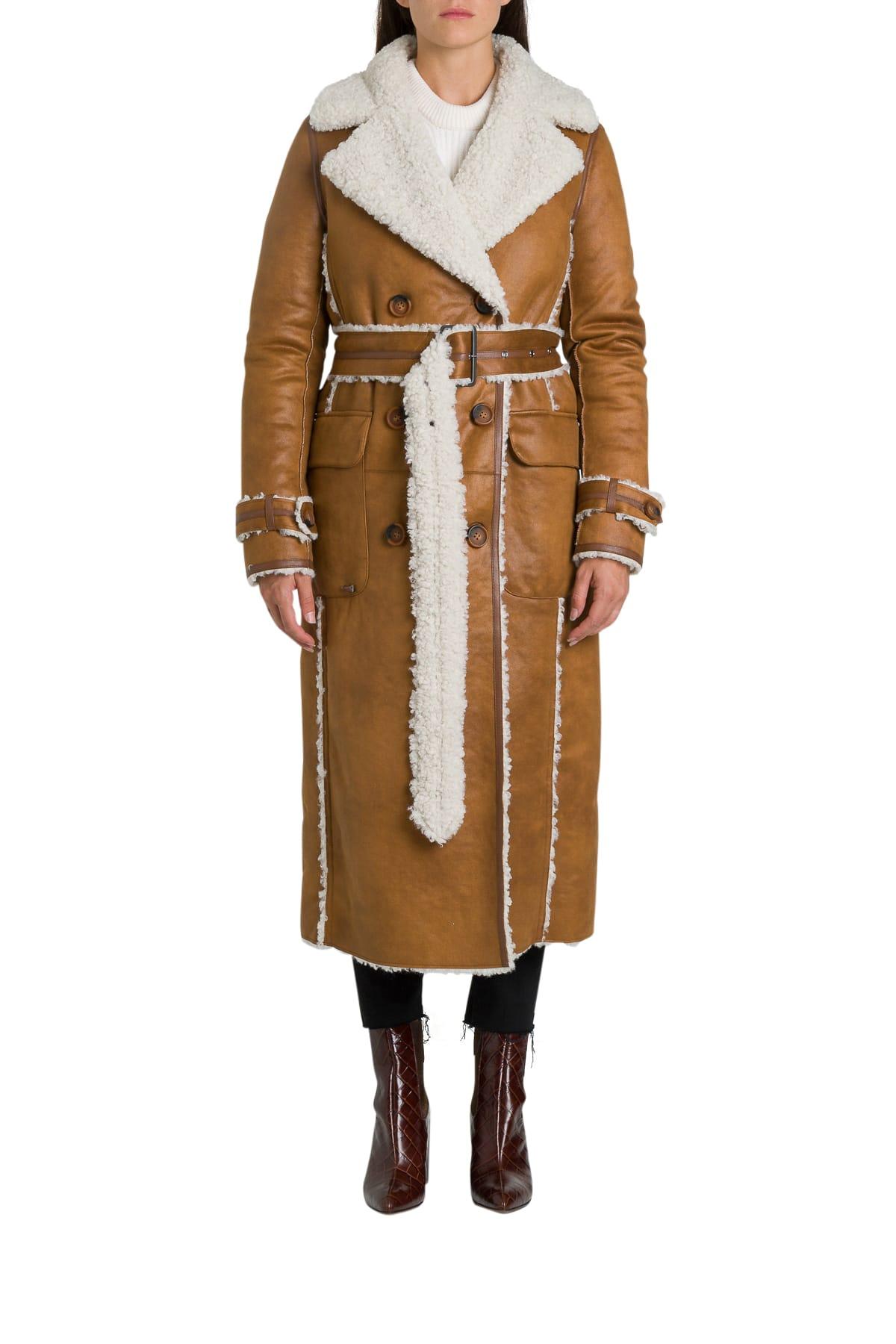 urbancode Renier Faux Shearling Reversible Trench Coat