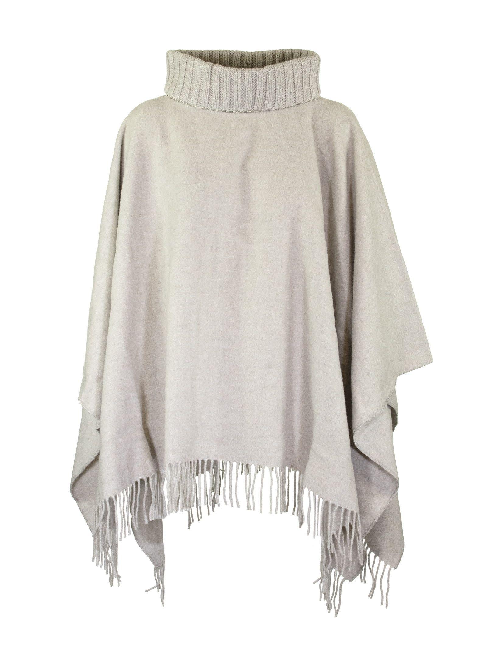 Fabiana Filippi Woven Wool And Cashmere Cloak