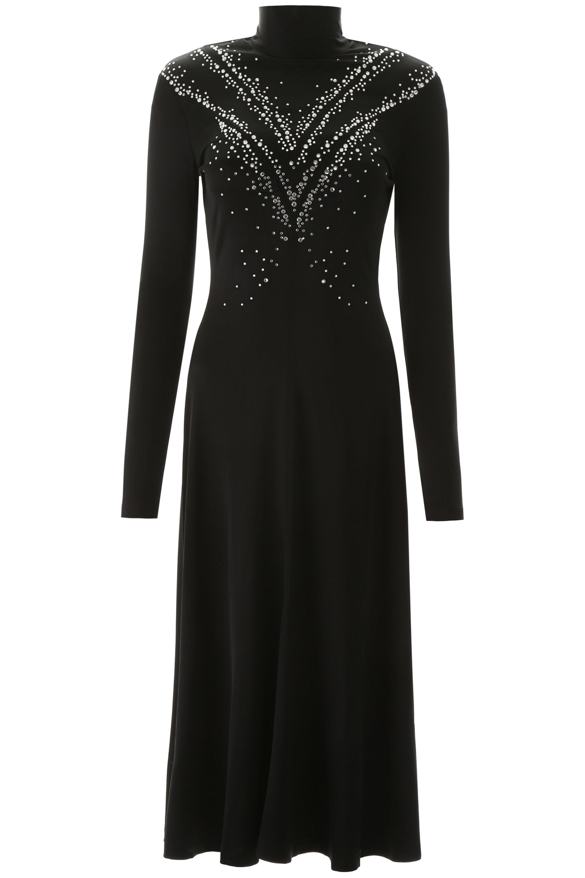 Buy Paco Rabanne Long Dress With Rhinestones online, shop Paco Rabanne with free shipping