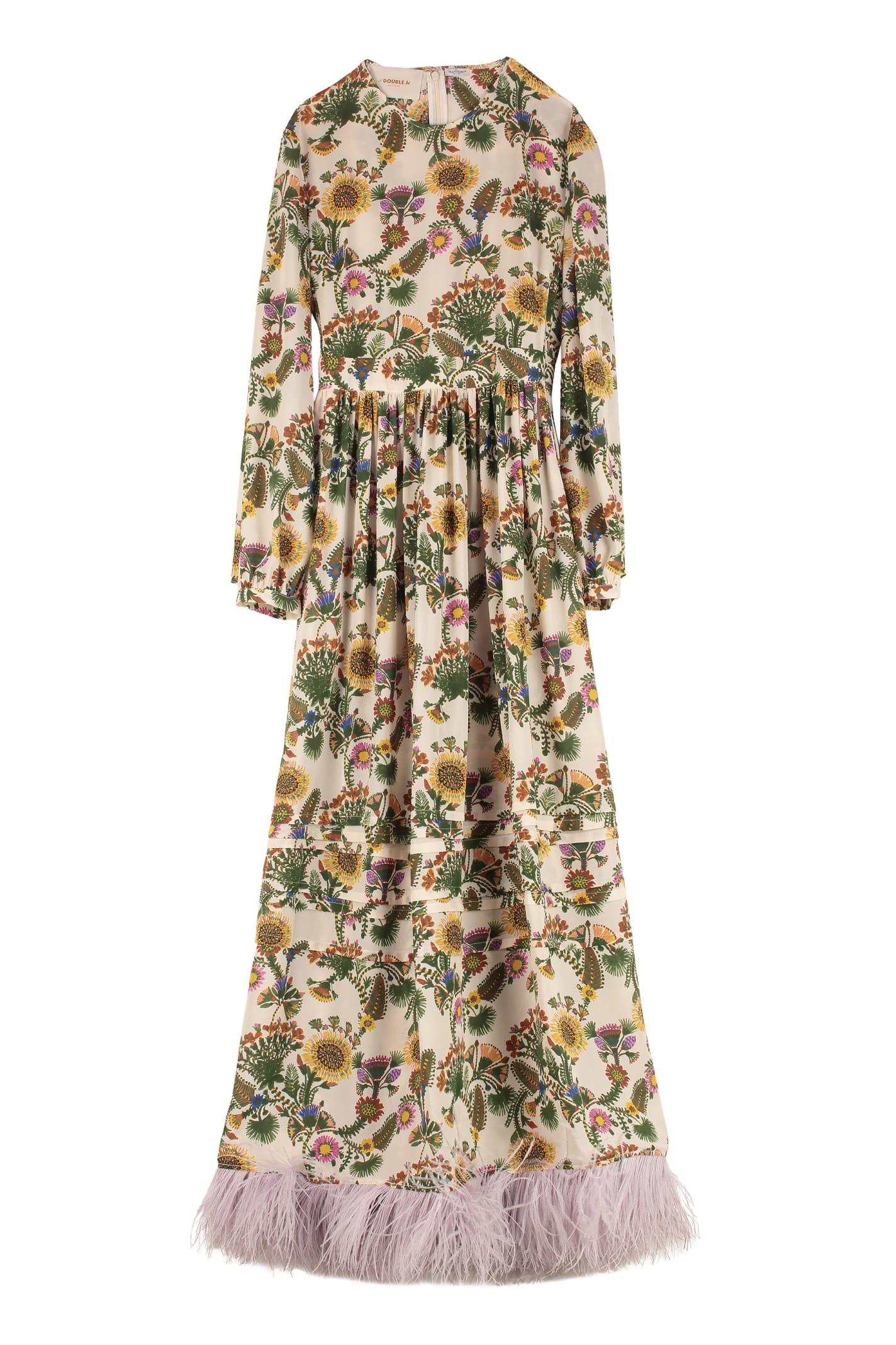 Buy La DoubleJ Pemberley Floral Print Maxi Dress online, shop La DoubleJ with free shipping