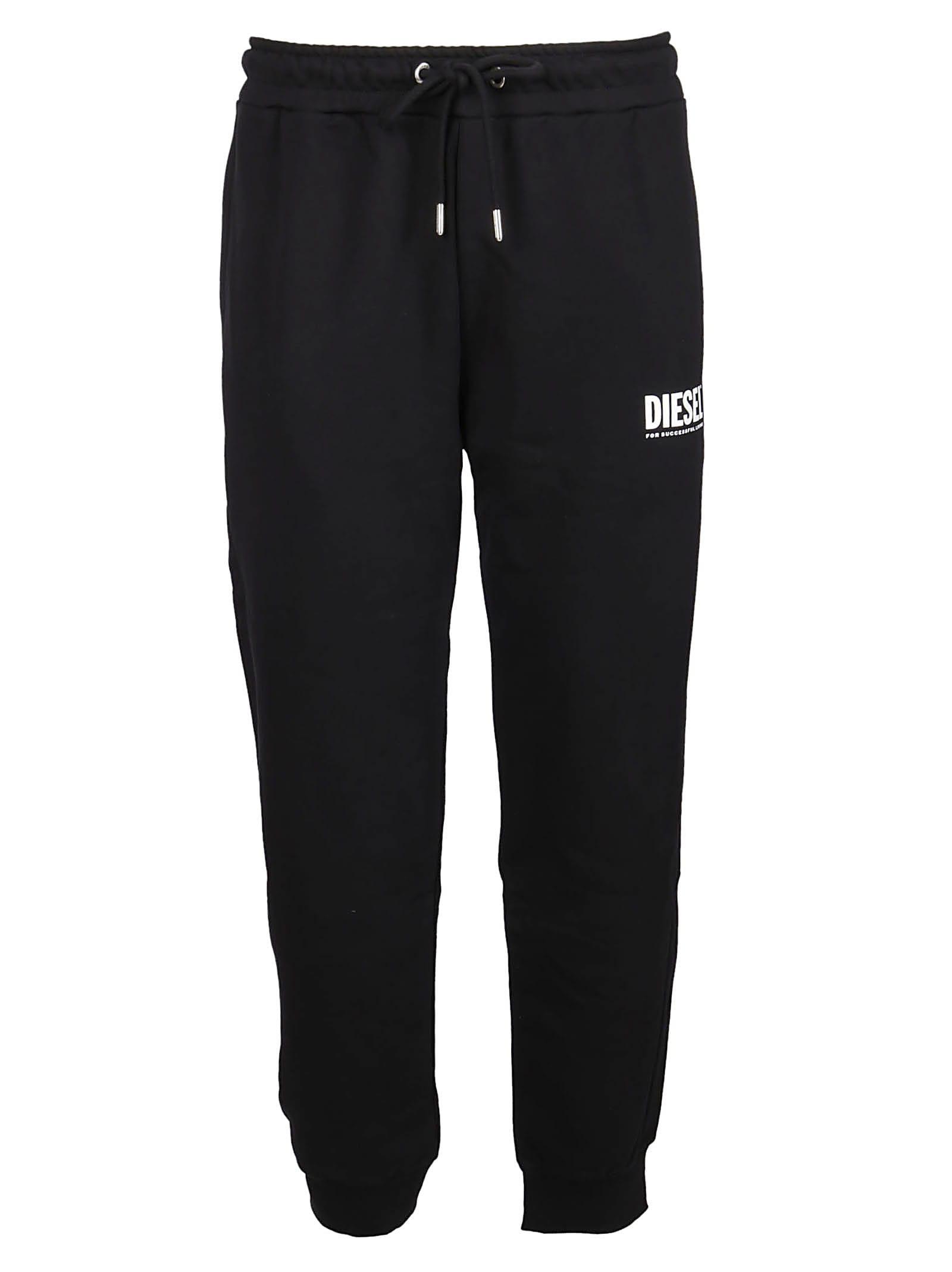 Diesel Black Cotton Track Pants