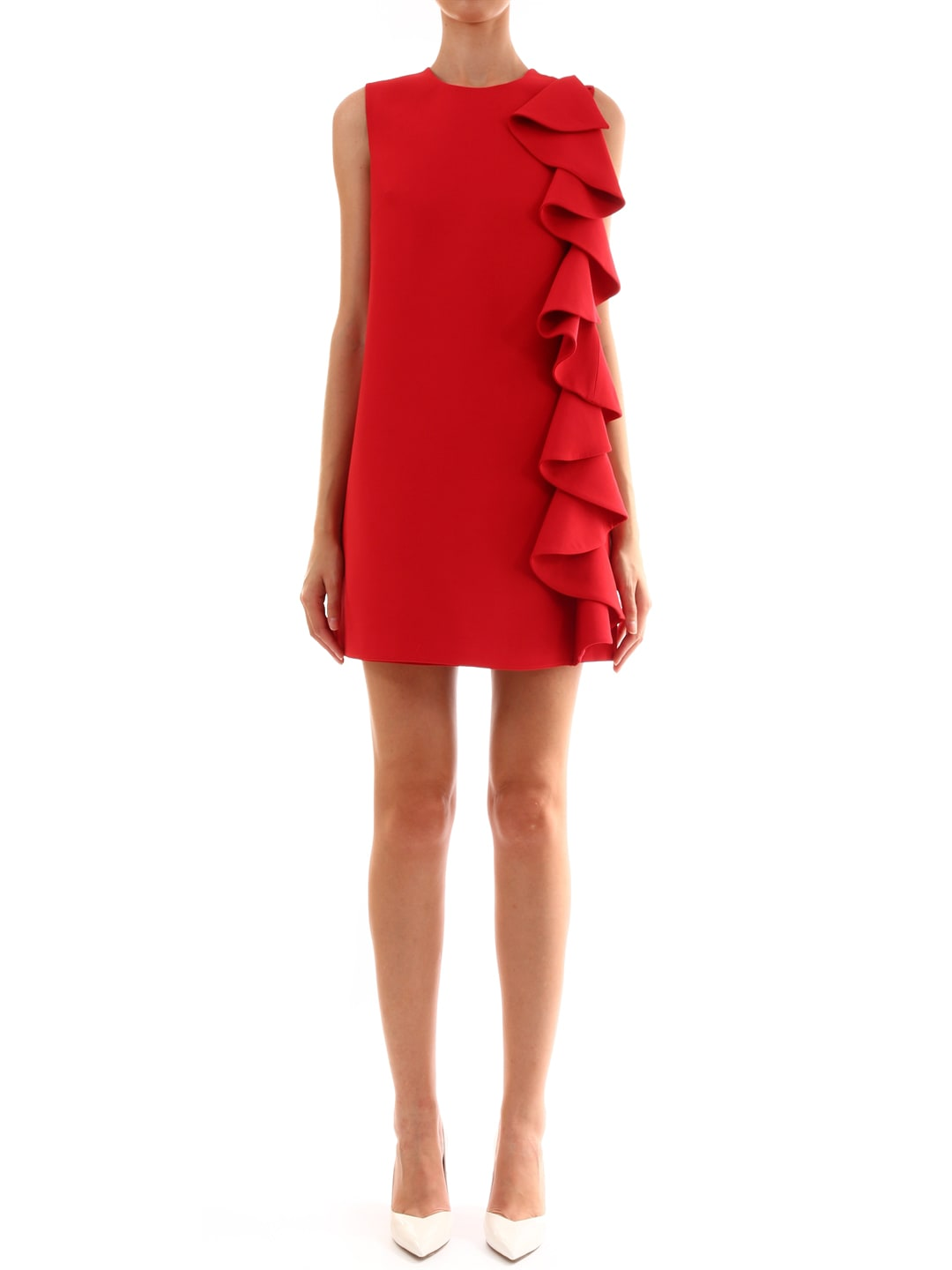 Valentino Crepe Couture Dress Red