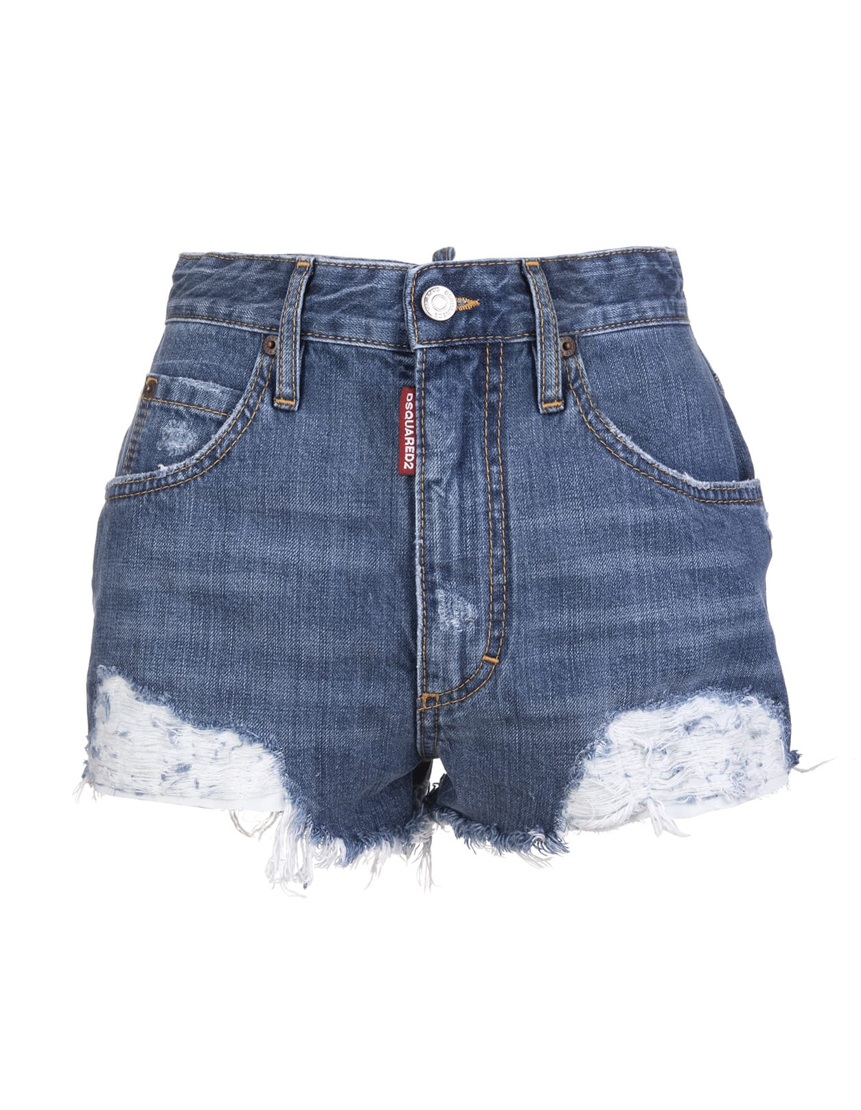 Beach High Waisted Denim Hot Pants