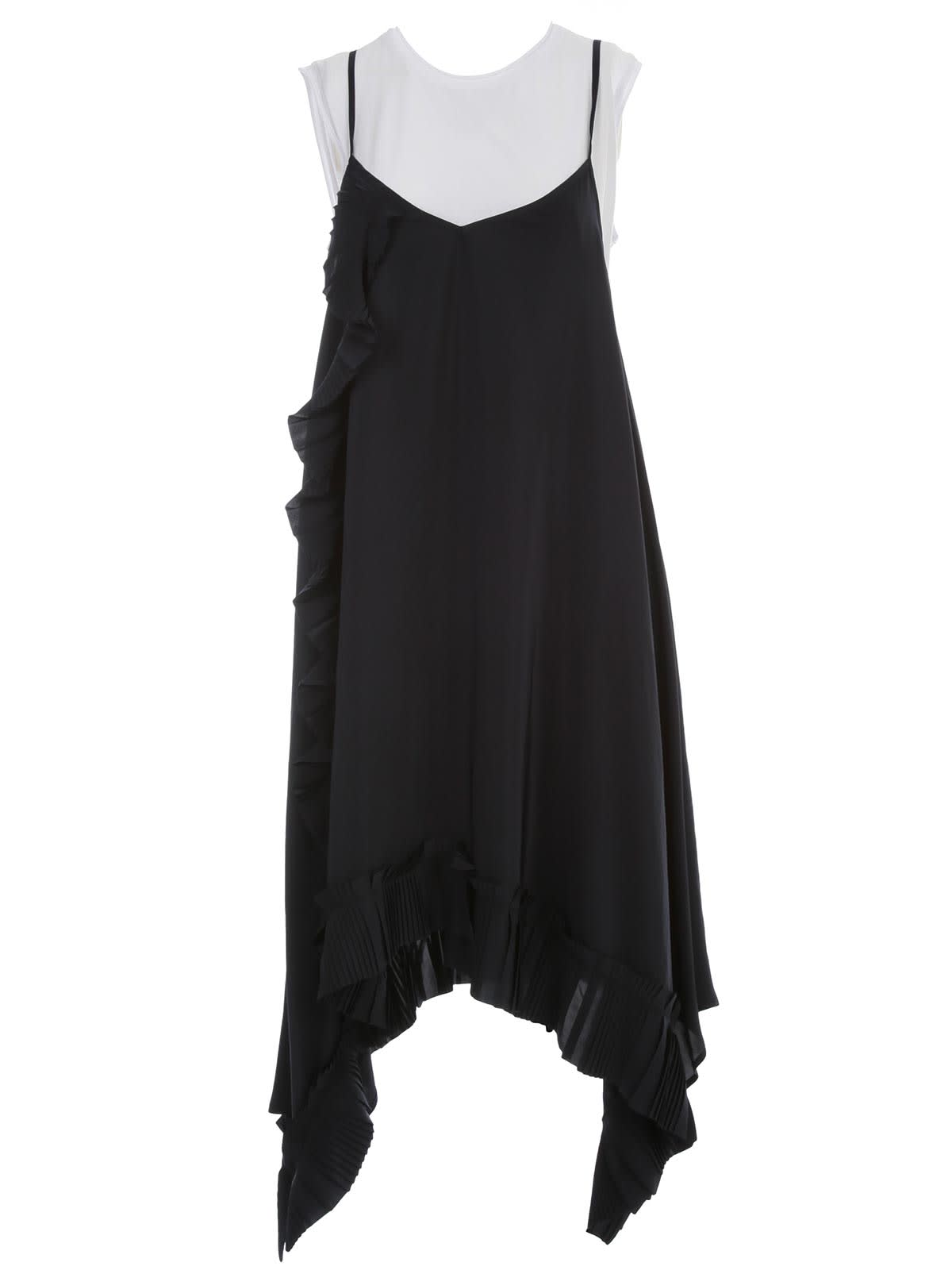 Buy Parosh Dress Thin Strap W/side Rouches online, shop Parosh with free shipping