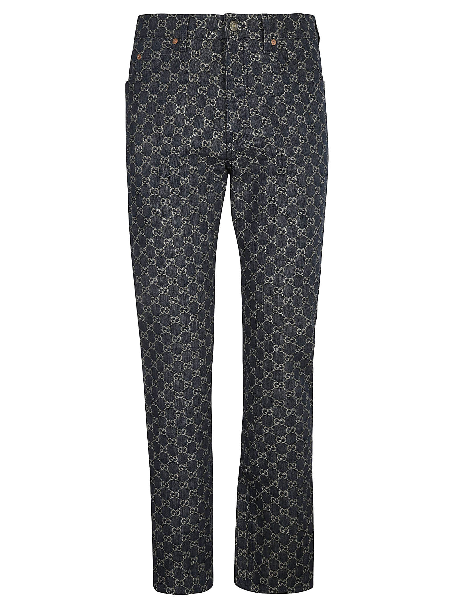 Gucci ALL-OVER LOGO JEANS