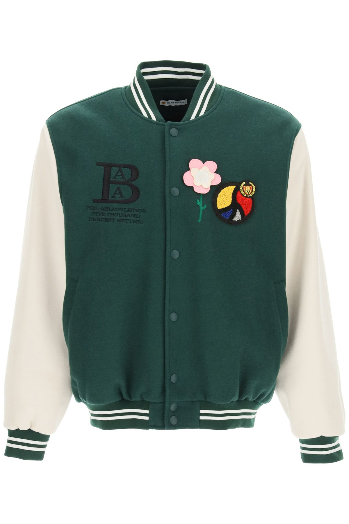 College Bomber With Appliqué
