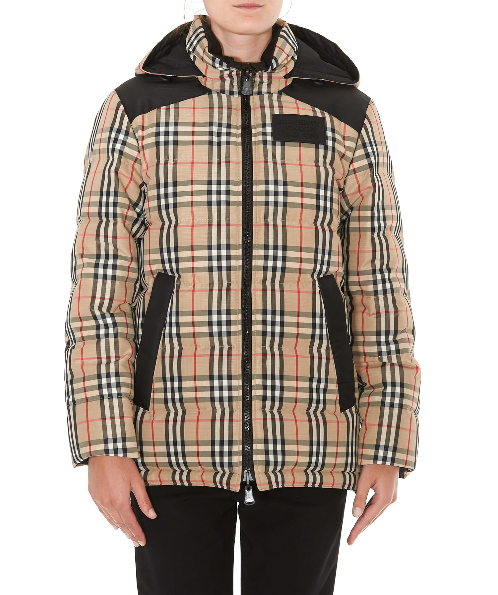 Burberry Vintage Check Motif Reversible Down Jacket