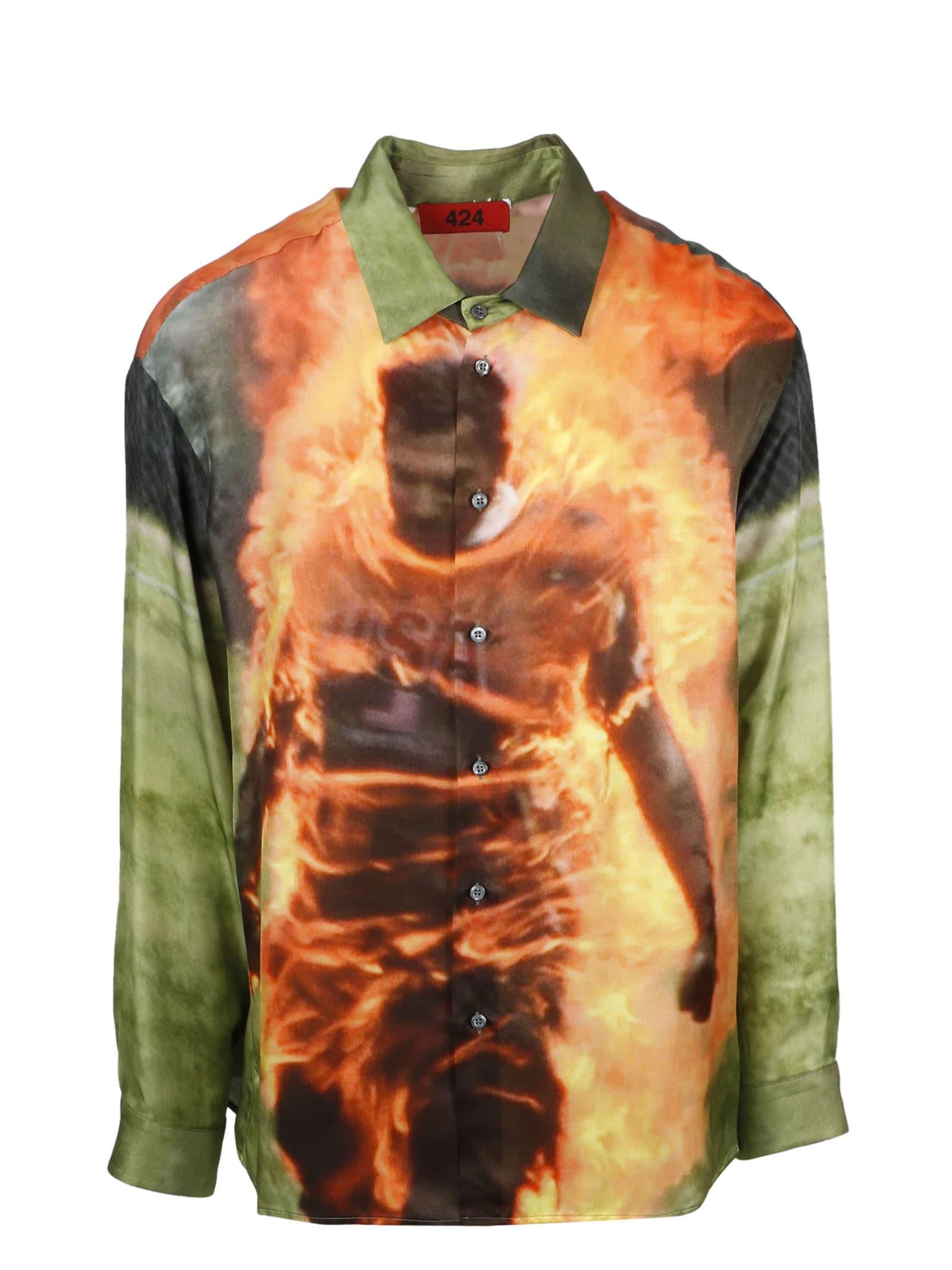 Printed Satin Shirt