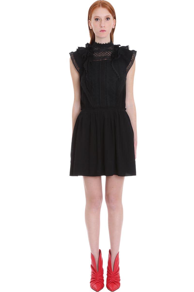 Buy Isabel Marant Ianelia Dress In Black Cotton online, shop Isabel Marant with free shipping