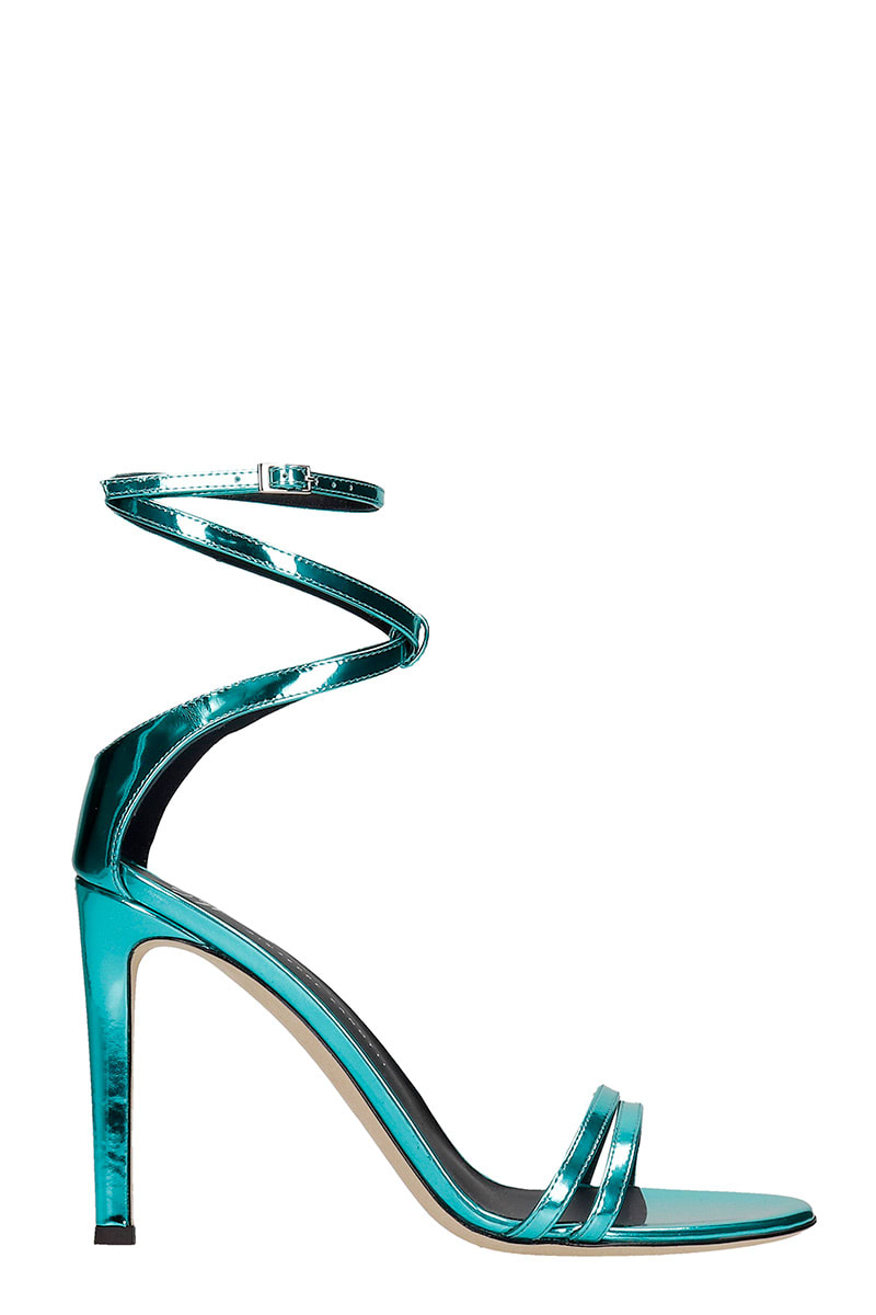 Giuseppe Zanotti Sandals In Cyan Leather