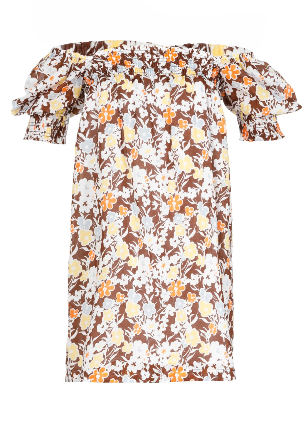 Buy Tory Burch Cotton Dress With Floral Pattern online, shop Tory Burch with free shipping