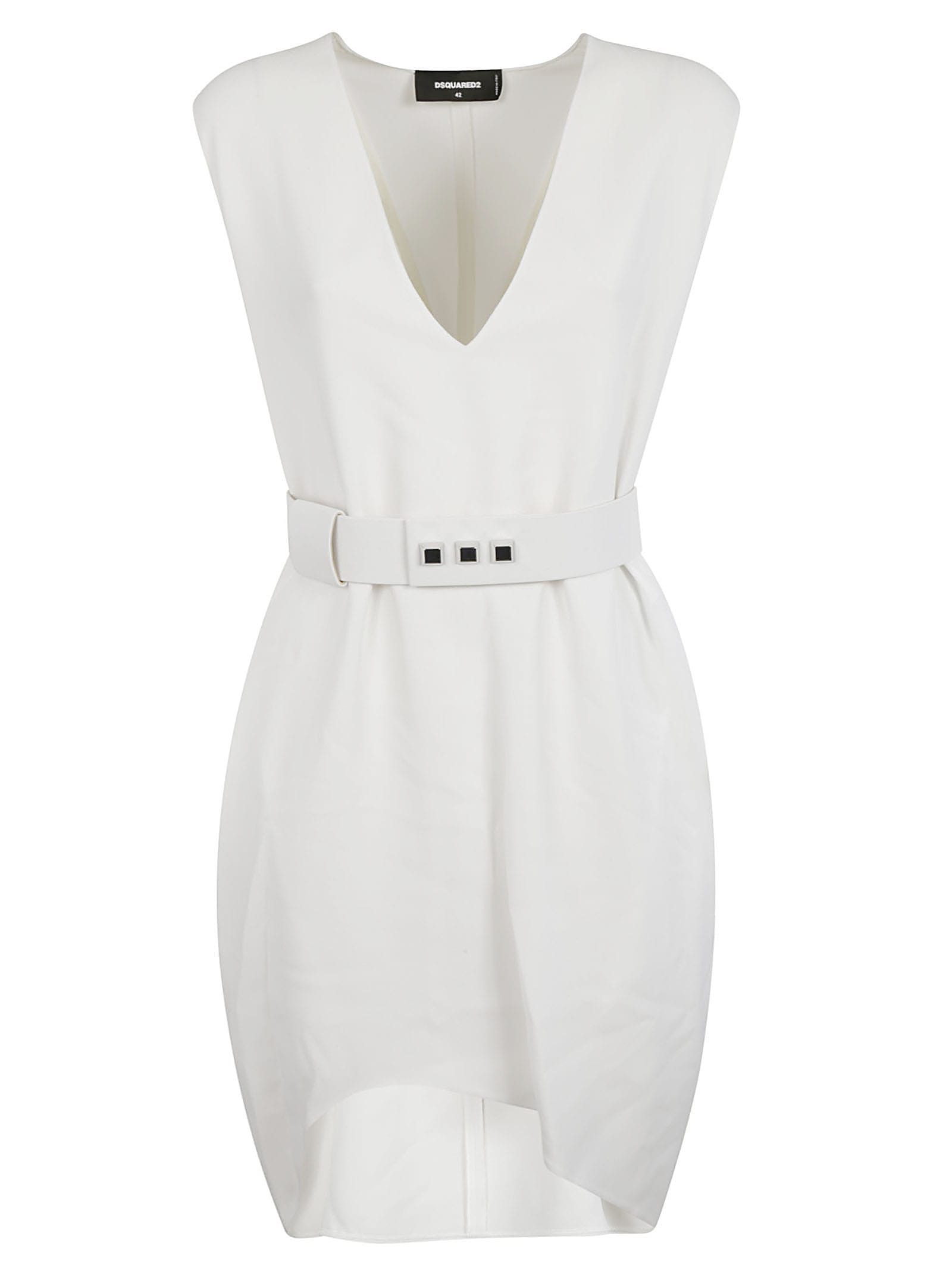 Buy Dsquared2 V-neck Belted Dress online, shop Dsquared2 with free shipping