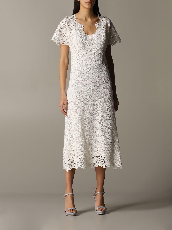 Buy Ermanno Scervino Dress Ermanno Scervino Macramé Dress online, shop Ermanno Scervino with free shipping