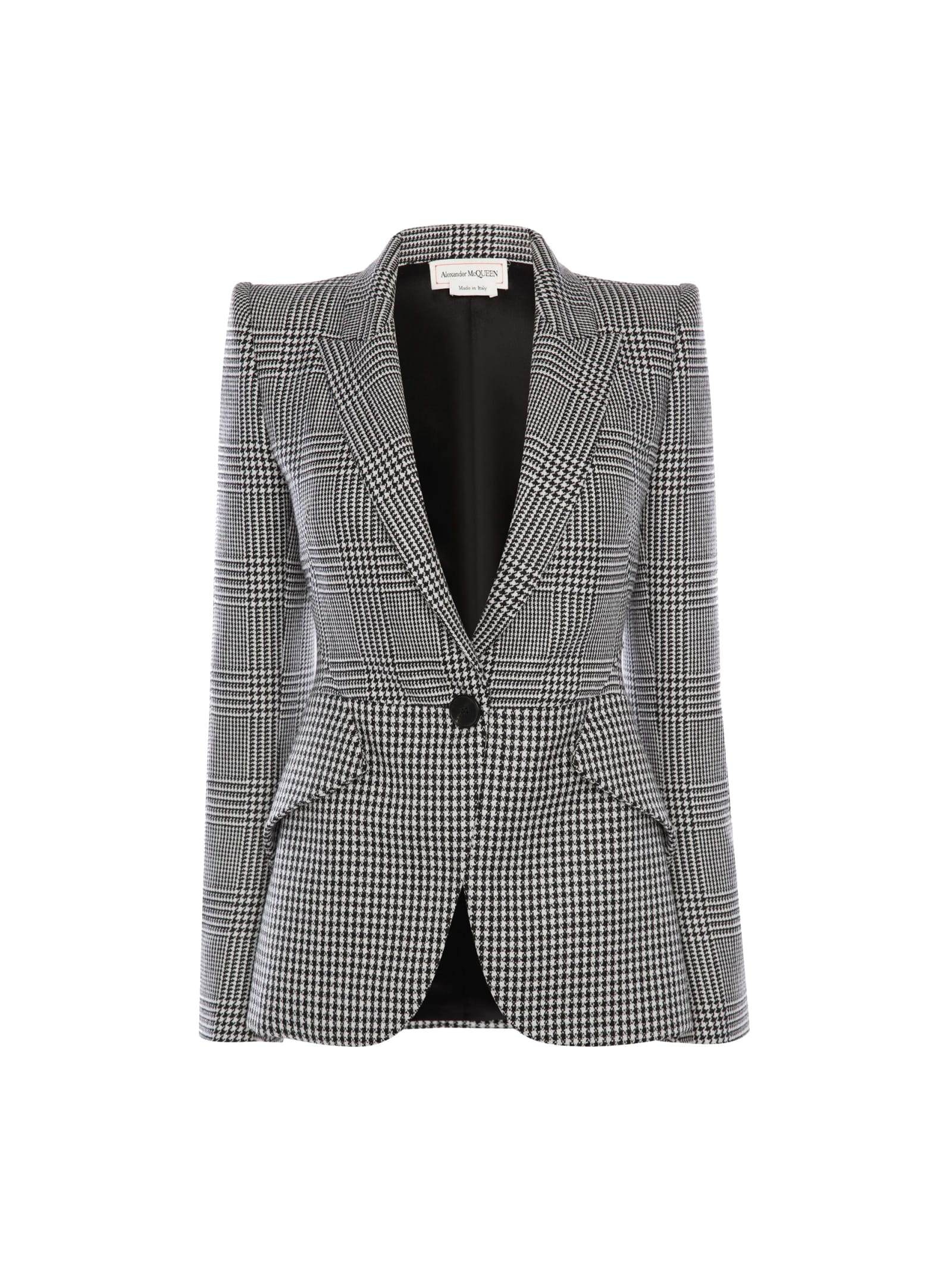Alexander McQueen Narrow Prince Of Wales Wool Jacket