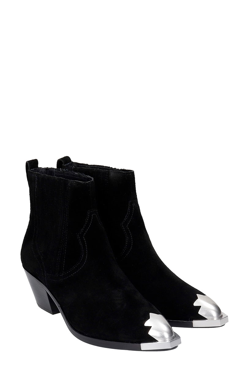 Recommend Cheap Ash Floyd 05 Texan Ankle Boots In Black Suede - Great Deals